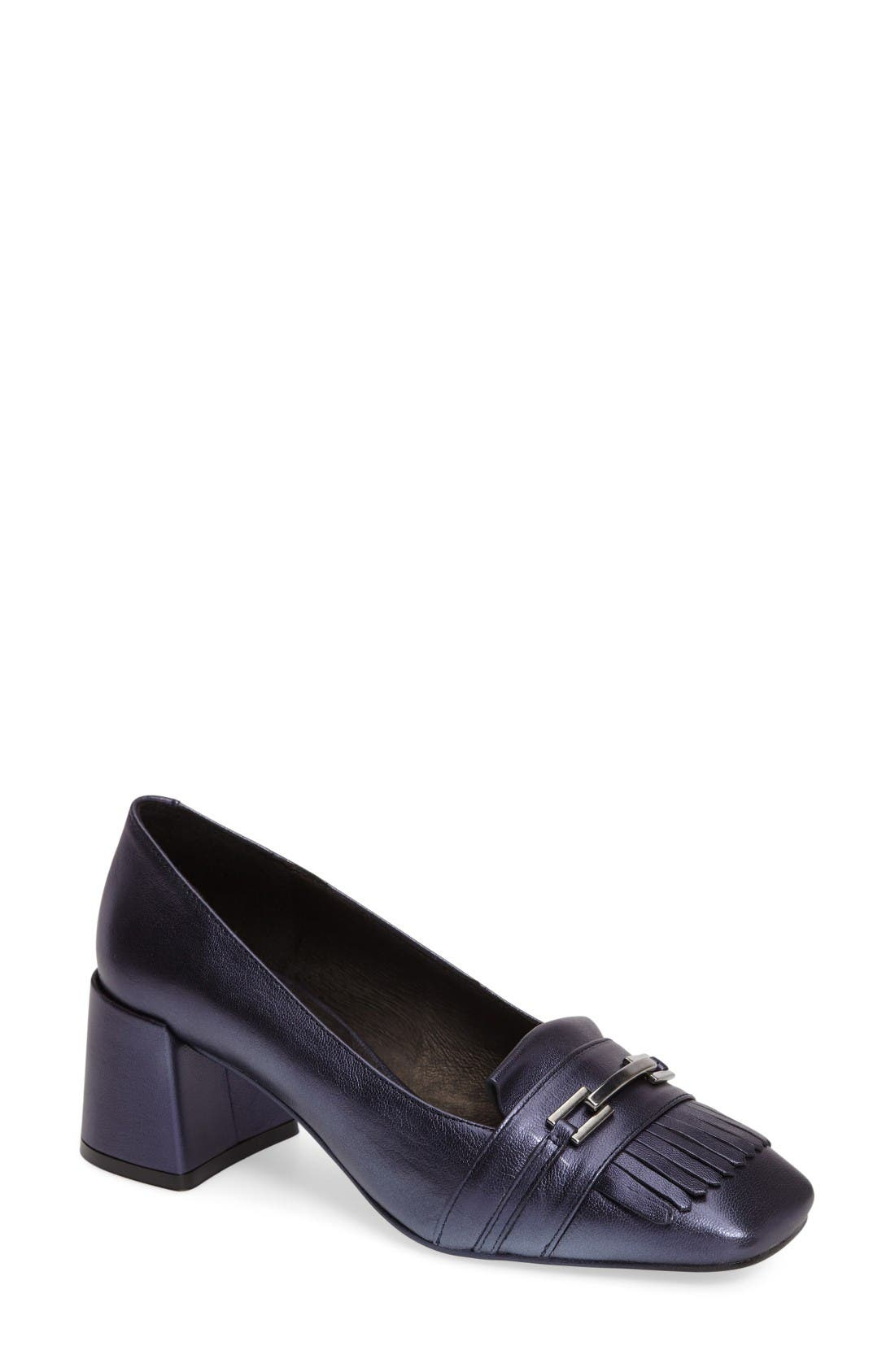 Topshop 'Justify' Block Heel Loafer Pump (Women)