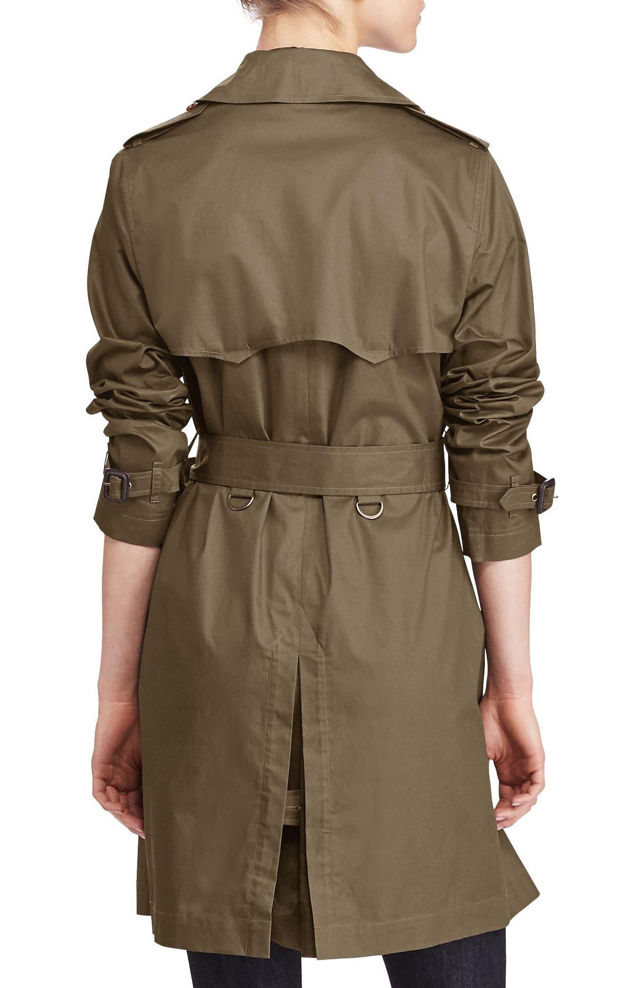 Alternate Image 2  - Lauren Ralph Lauren Double-Breasted Trench Coat
