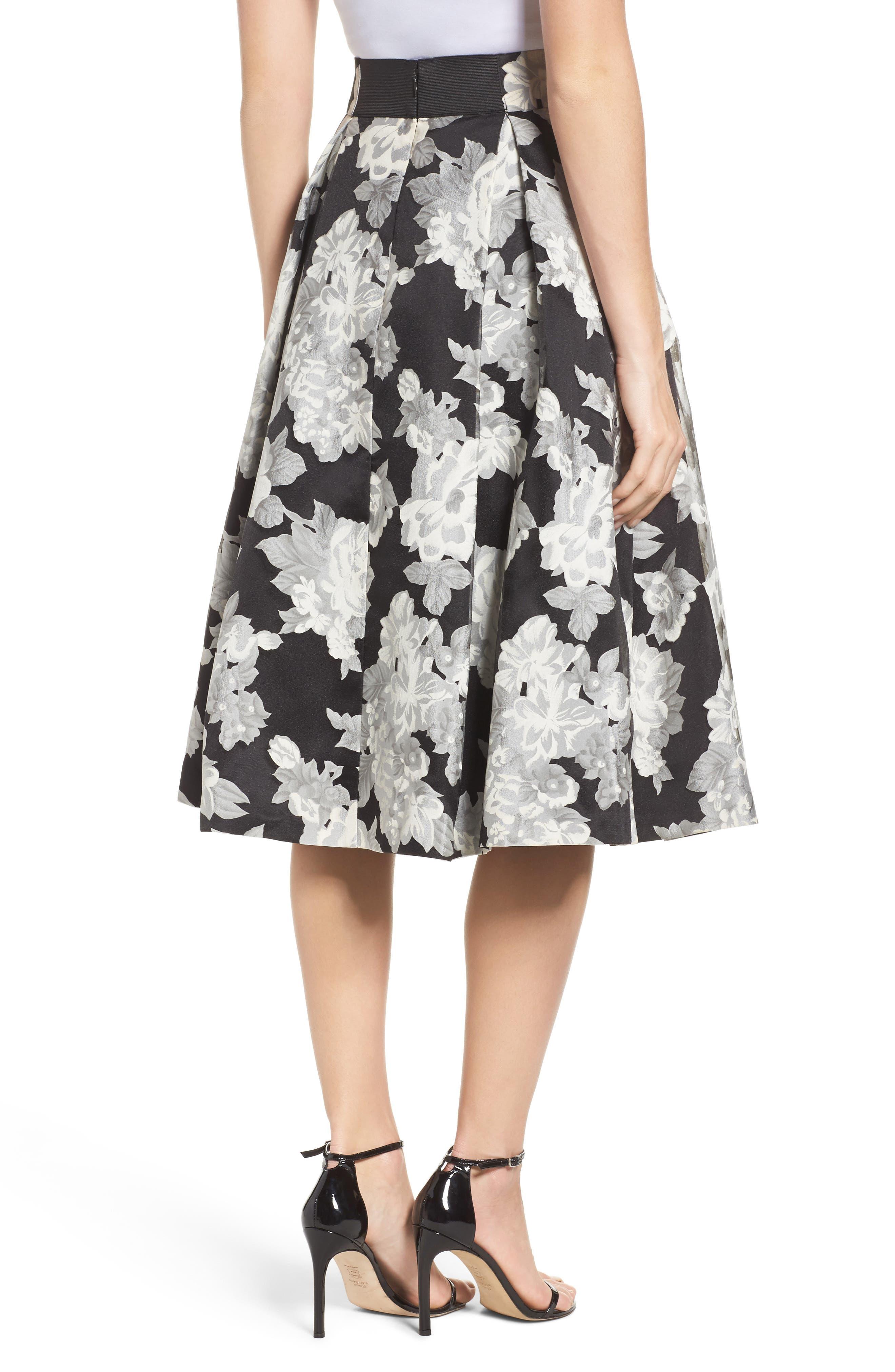 Alternate Image 3  - Eliza J Floral Print Organza Midi Skirt