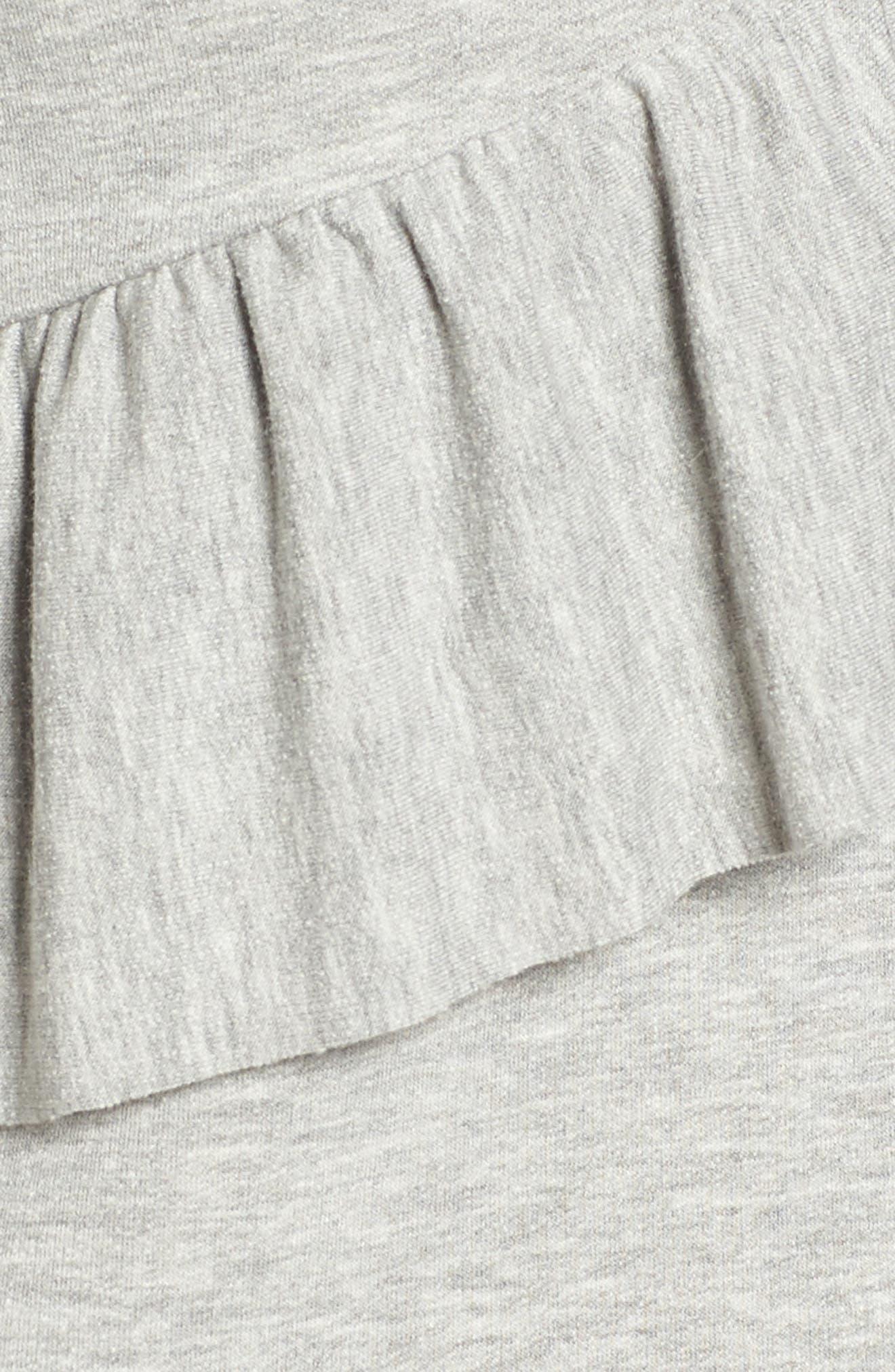 Alternate Image 6  - Pleione French Terry Ruffle Sweatshirt (Regular & Petite)