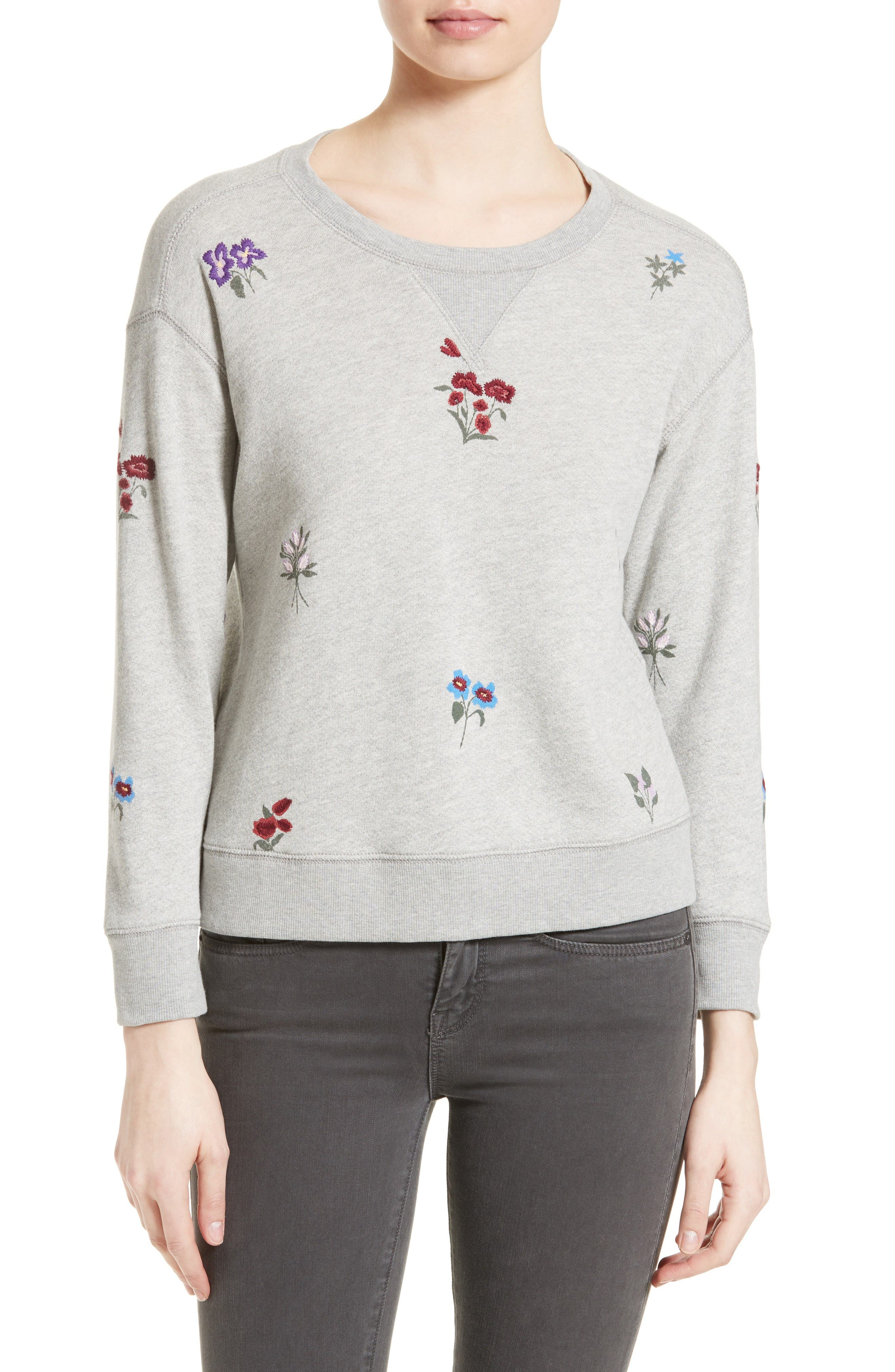 Soft Joie Rikke B Embroidered Sweatshirt