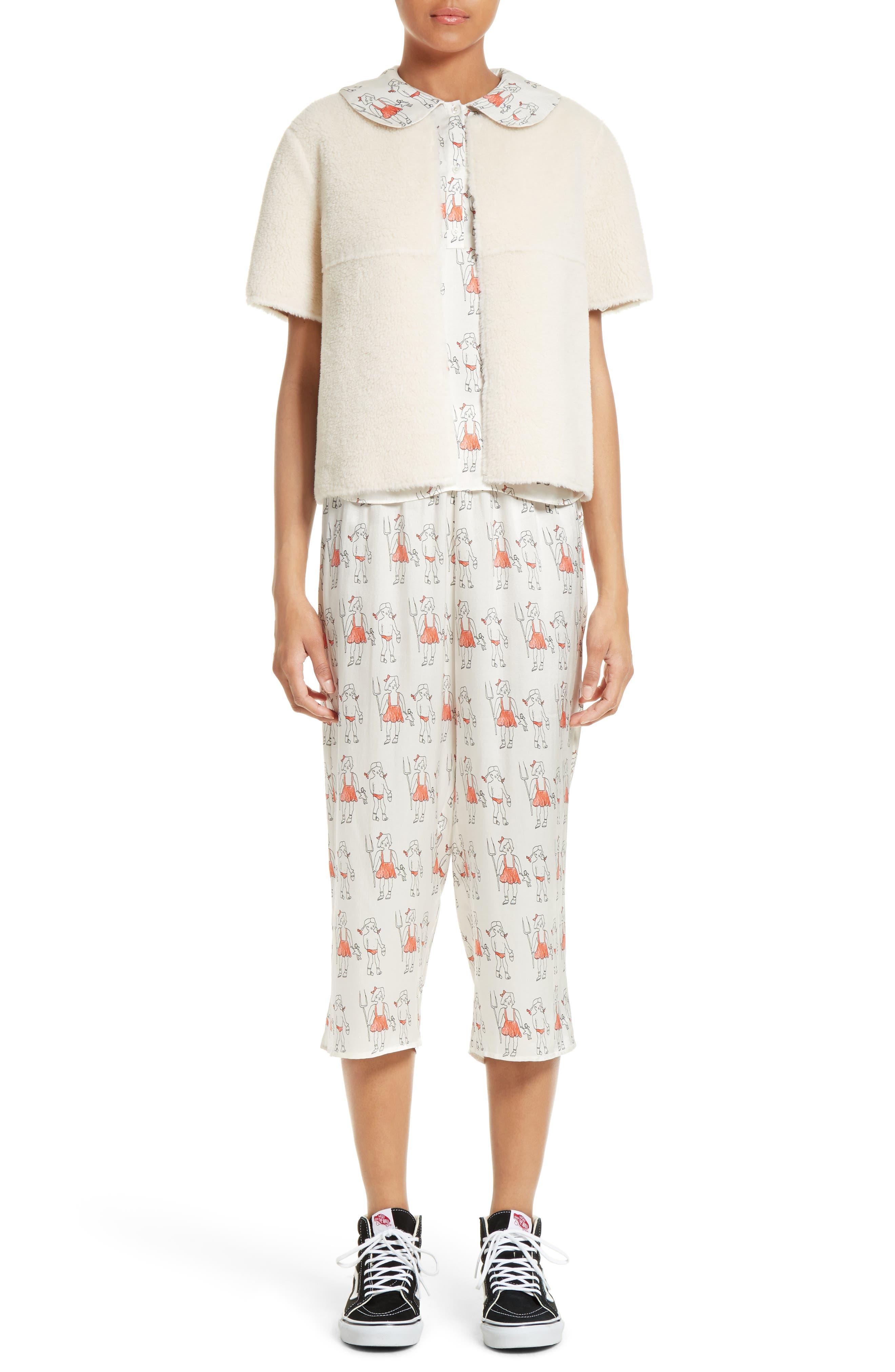 Alternate Image 8  - Shrimps Dagobert Silk Pajama Pants