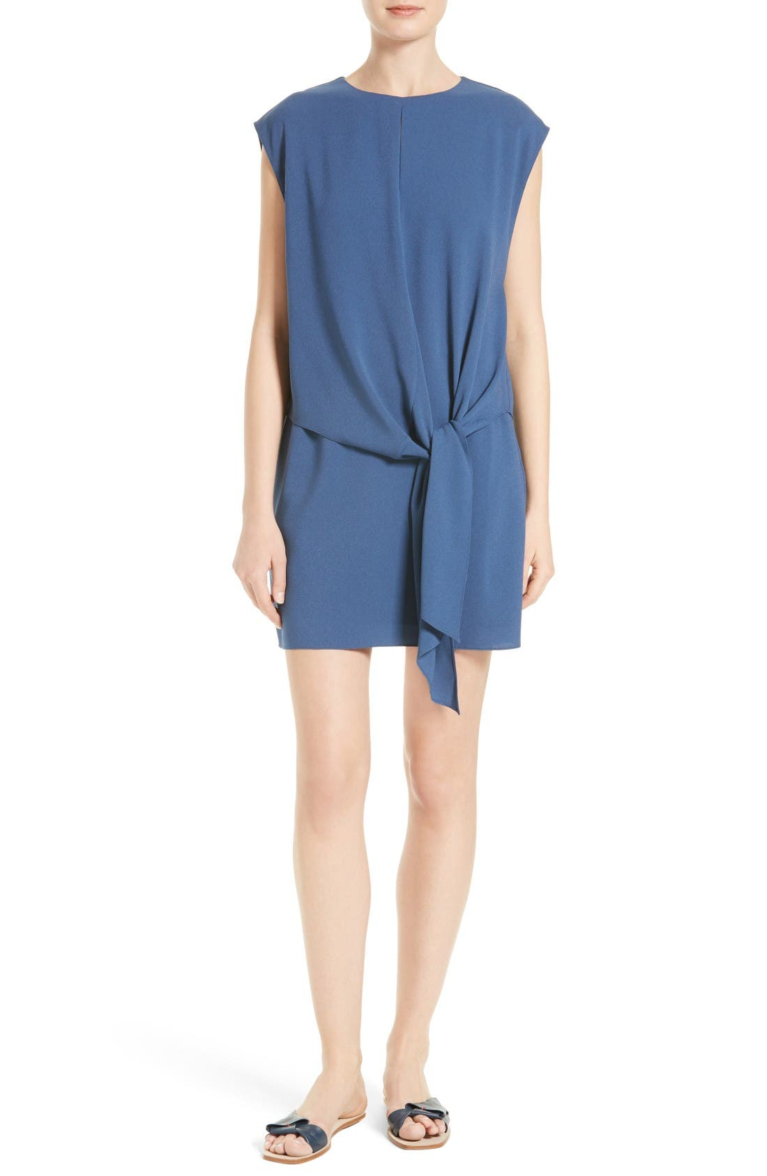 Tibi Savanna Crepe Shift Dress