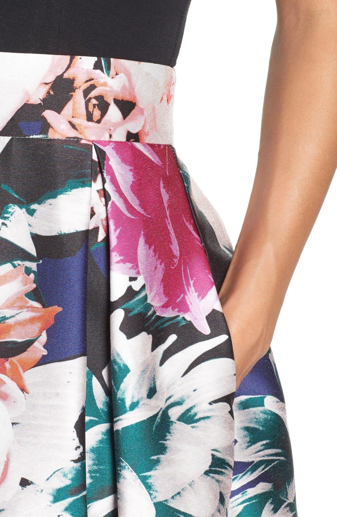 Alternate Image 5  - Eliza J Floral Ball Skirt
