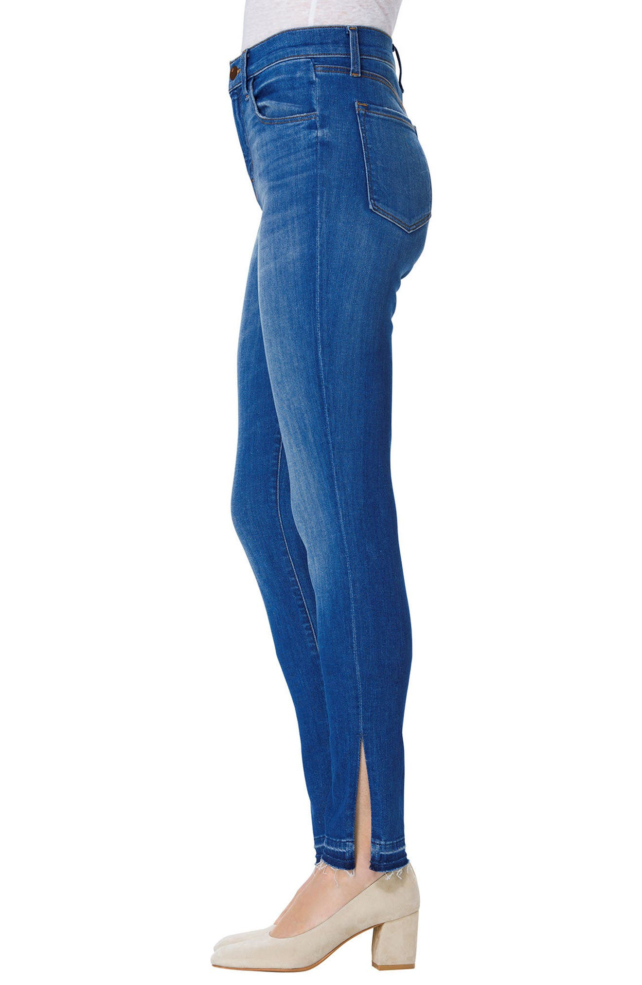Alternate Image 3  - J Brand Maria High Waist Skinny Jeans (Angelic)