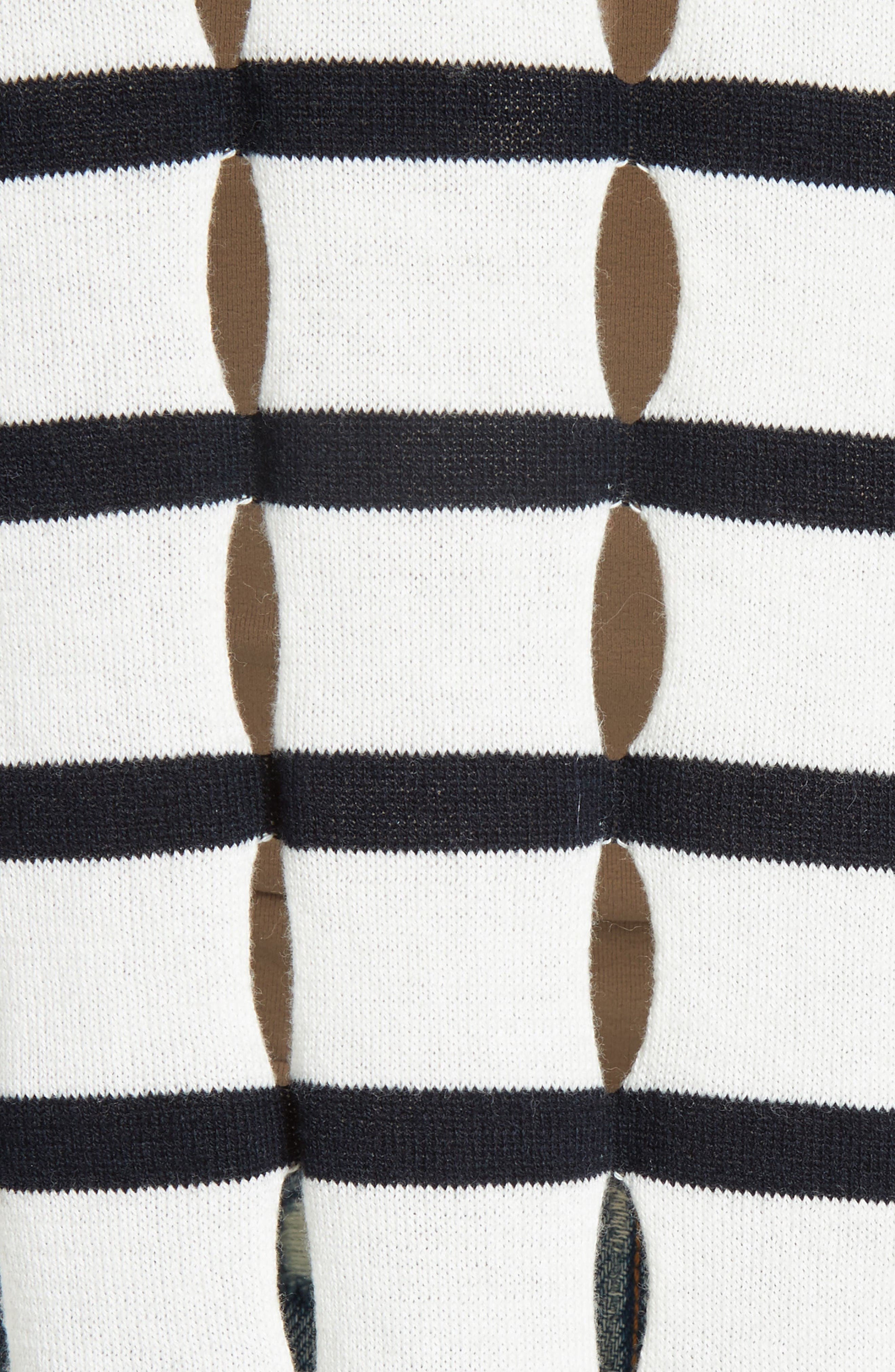 Alternate Image 5  - T by Alexander Wang Stripe Cotton Pullover