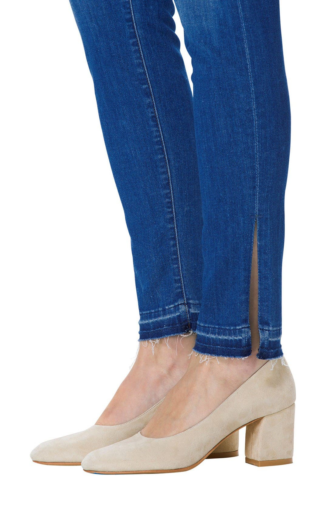 Alternate Image 4  - J Brand Maria High Waist Skinny Jeans (Angelic)