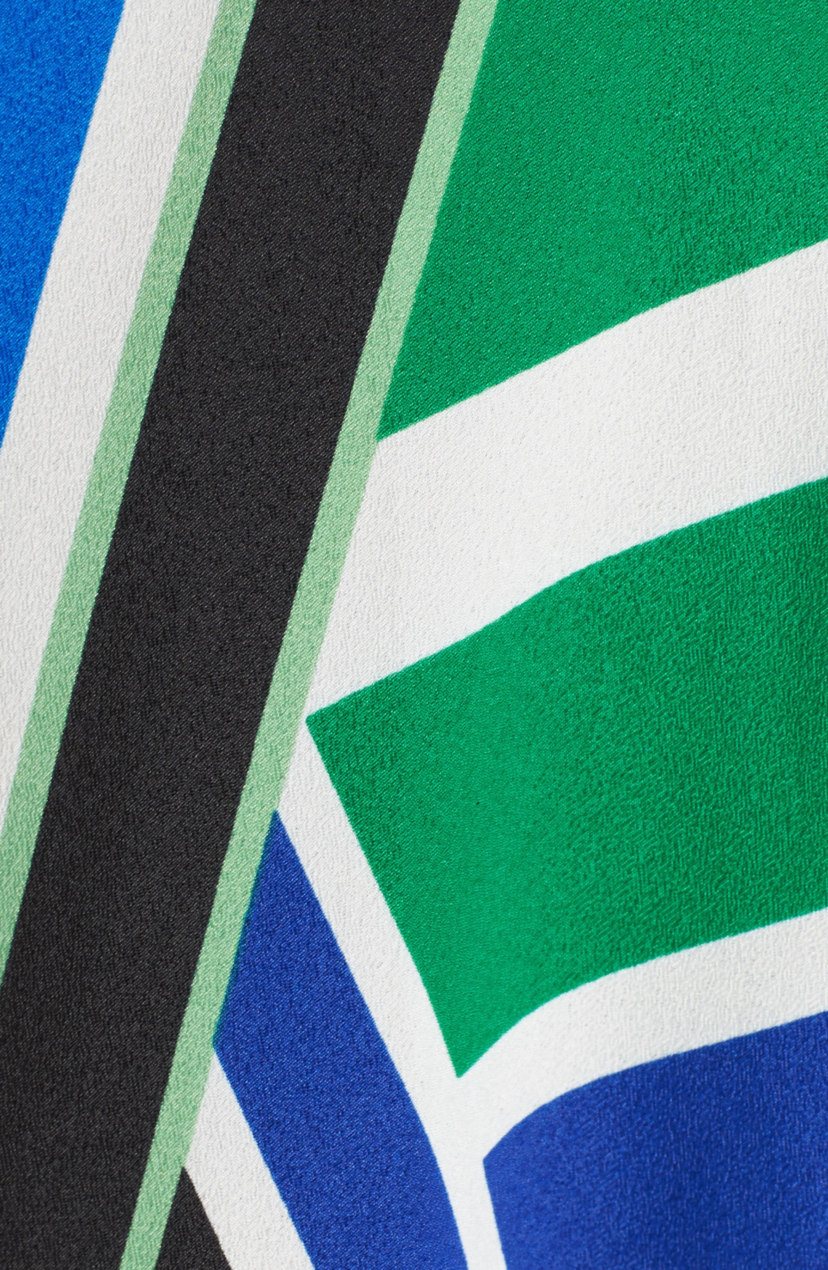 Alternate Image 5  - Eliza J Scarf Print Jersey & Crêpe de Chine Maxi Dress