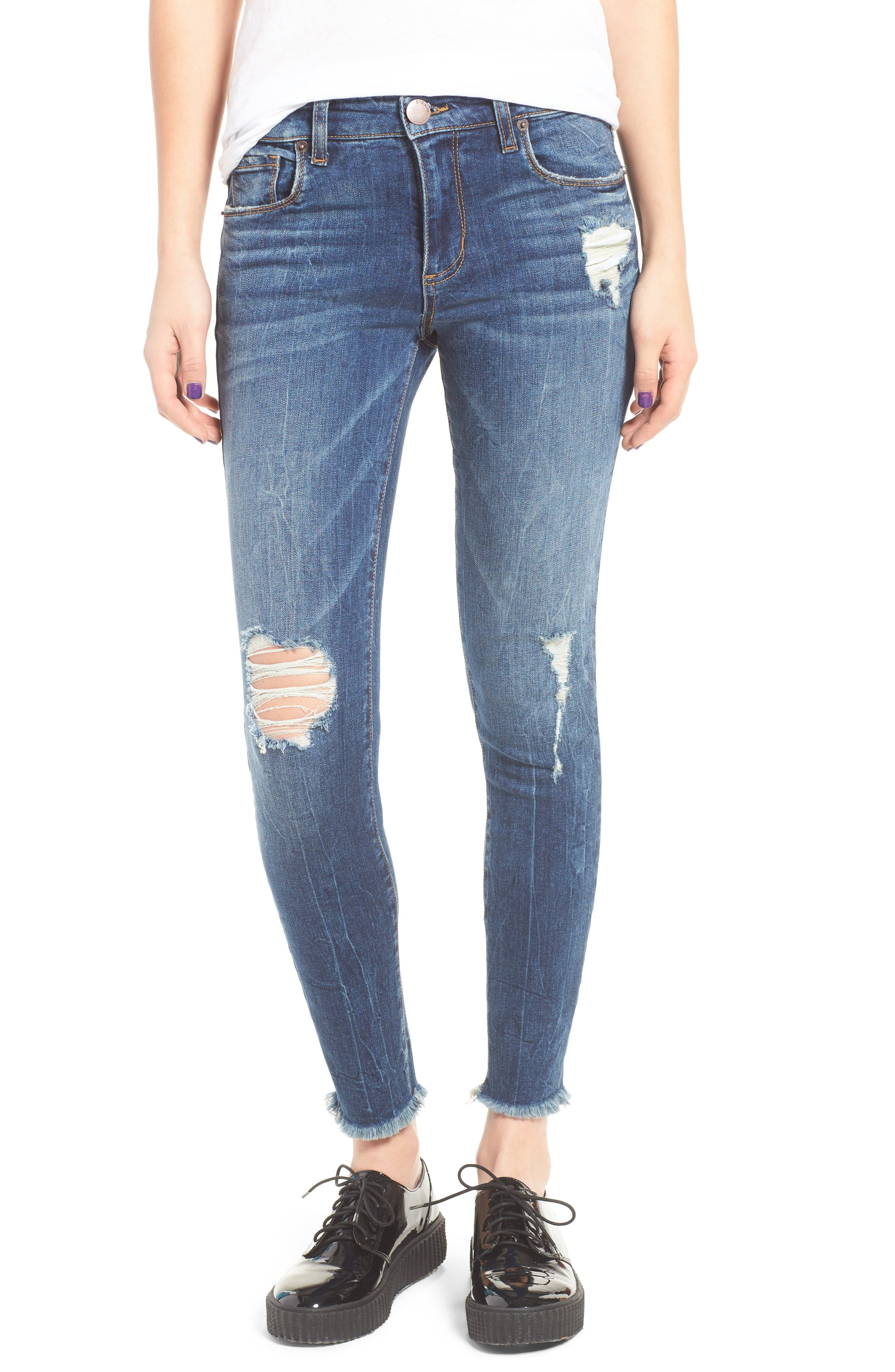 STS Blue Emma Distressed Ankle Skinny Jeans (North Ashbury)
