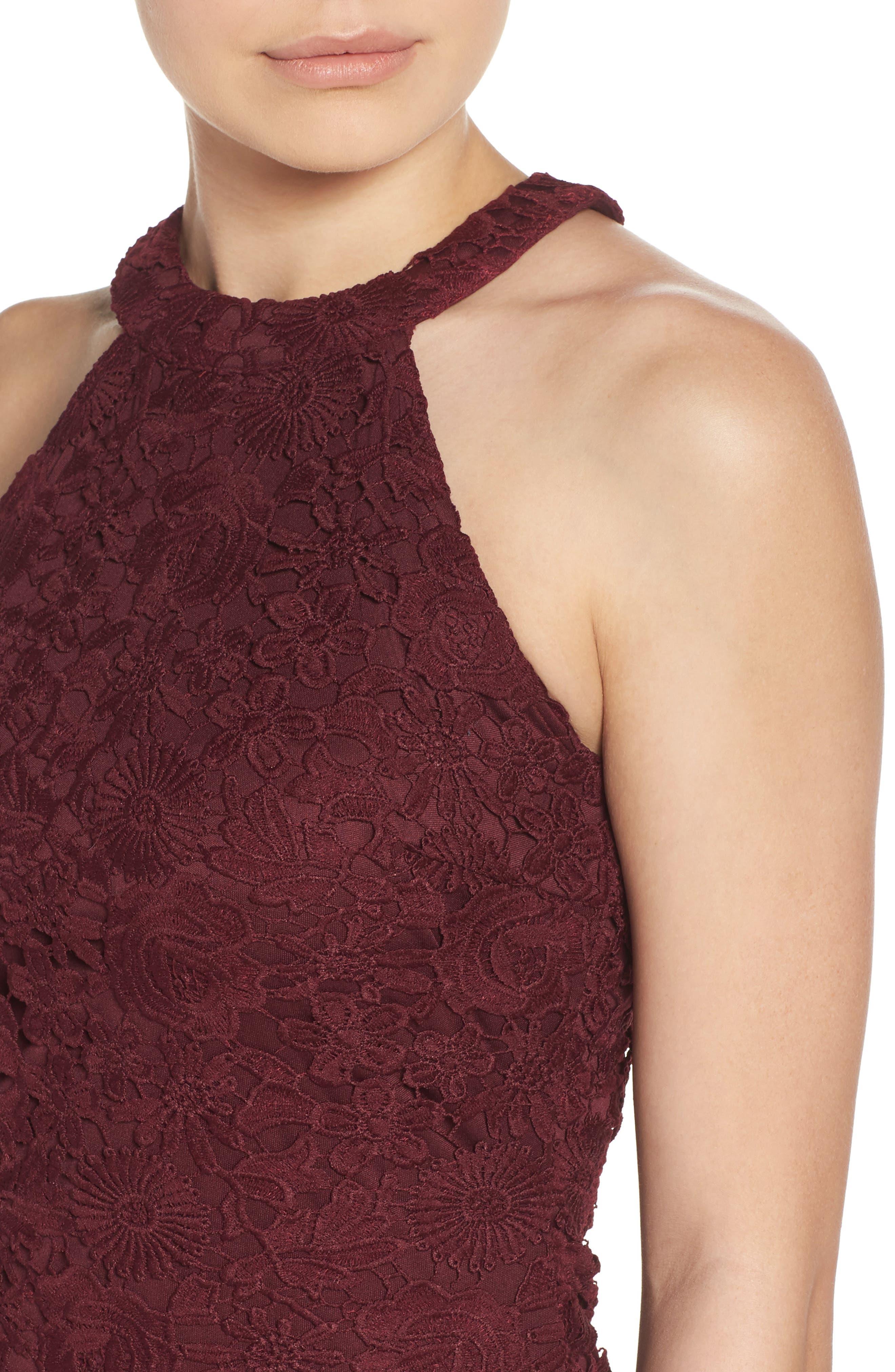 Alternate Image 4  - Lulus Lace Halter Dress
