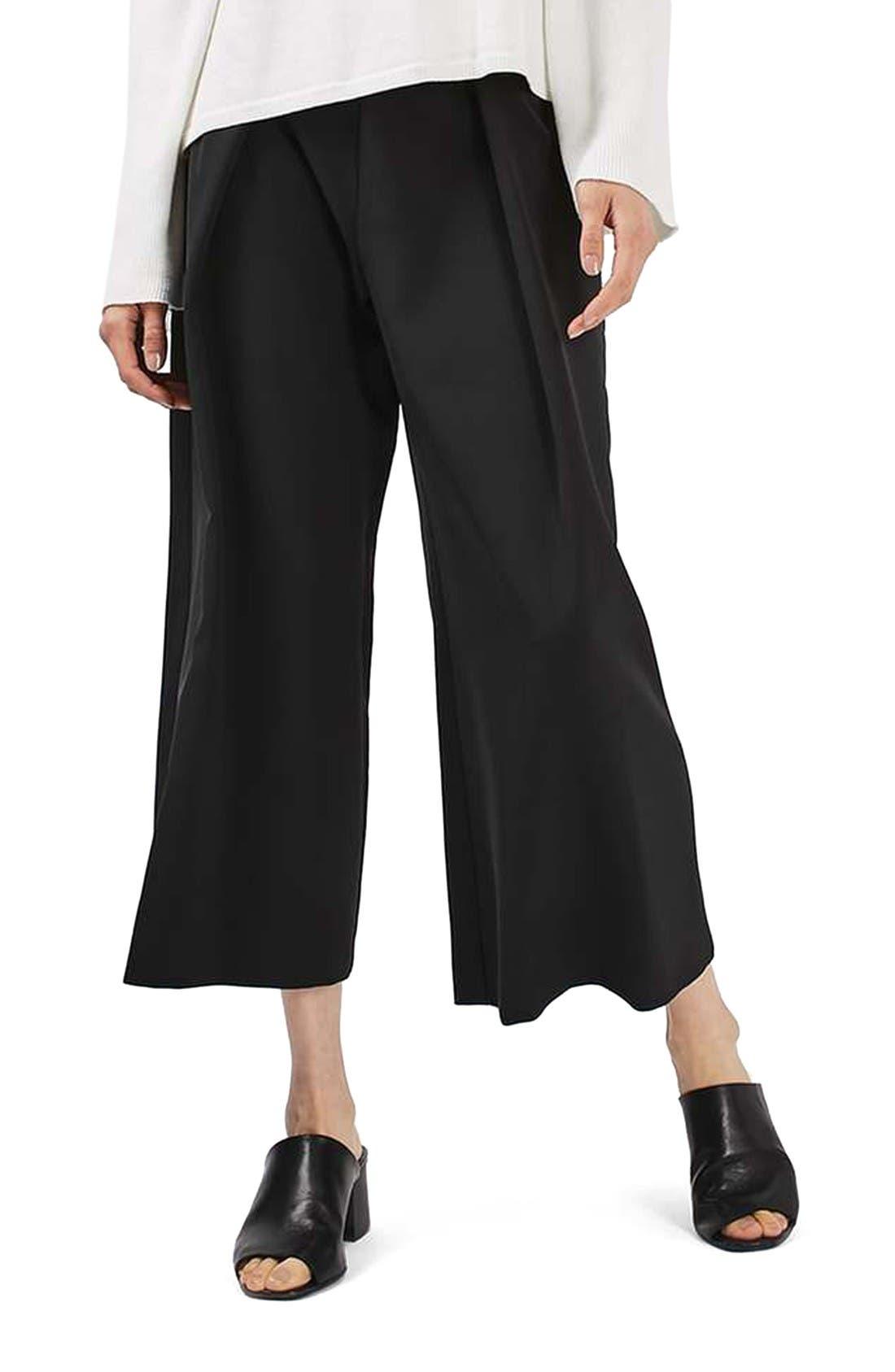 Topshop Vera Crop Wide Leg Trousers | Nordstrom
