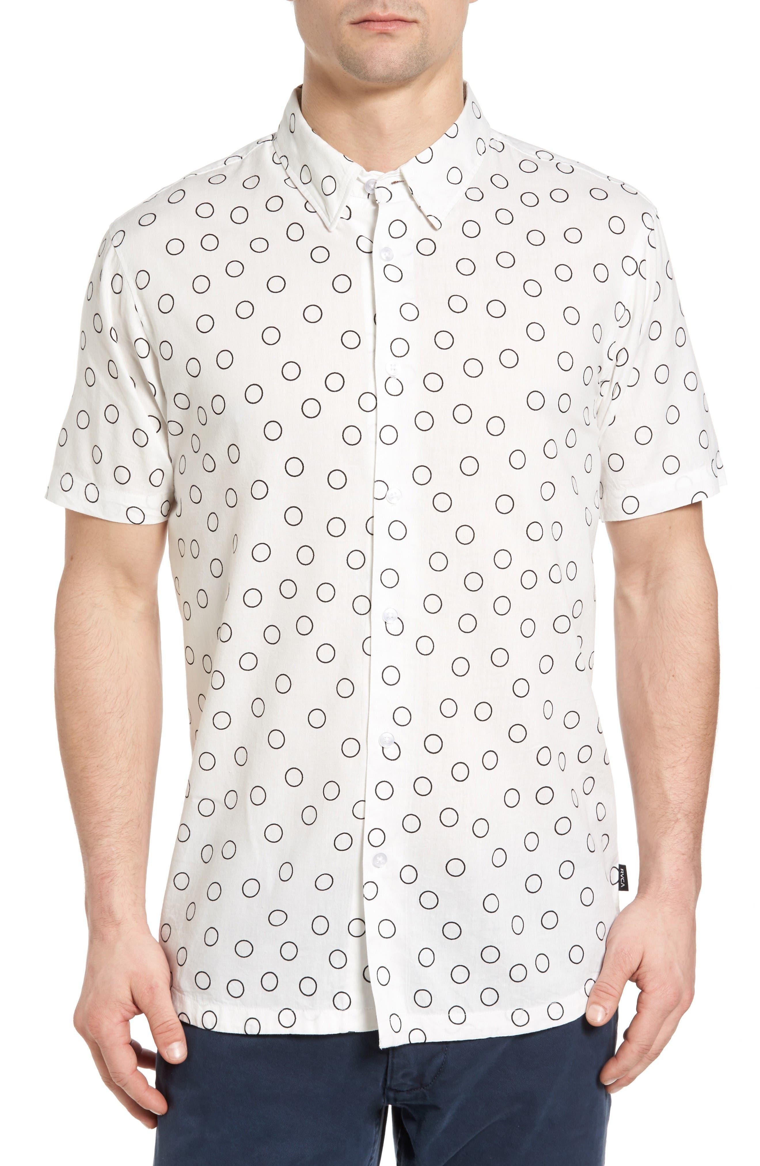 RVCA Ring Print Woven Shirt
