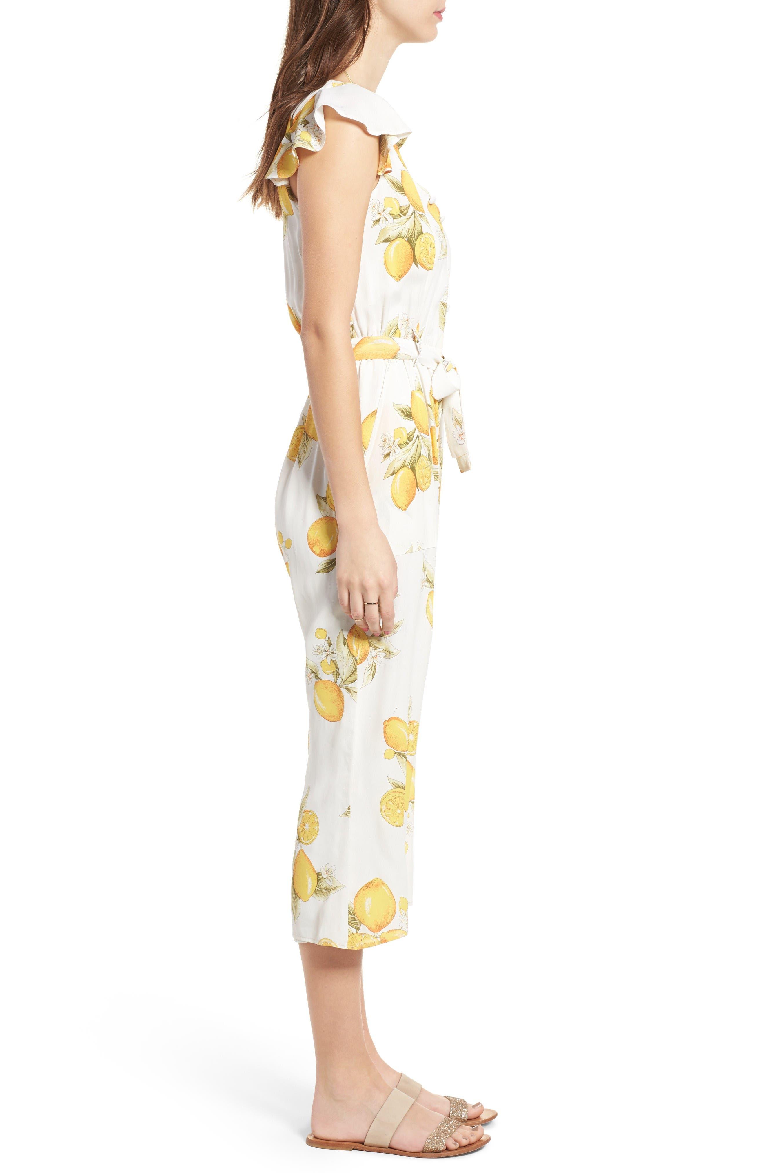 Alternate Image 3  - For Love & Lemons Limonada Crop Jumpsuit