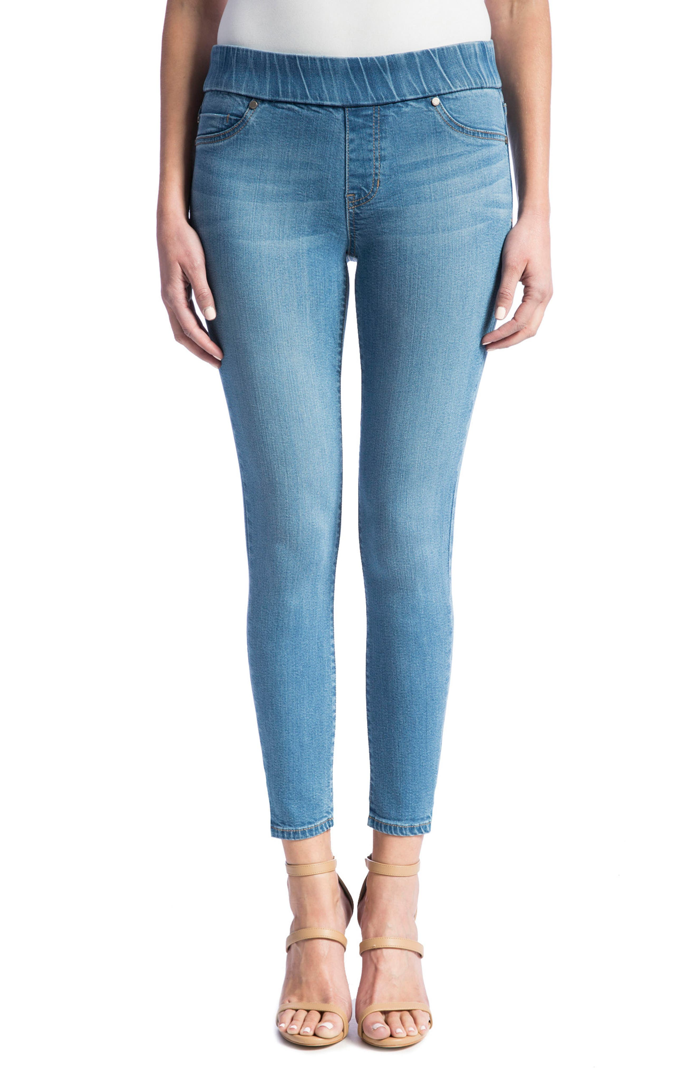 Liverpool Jeans Company Stretch Denim Ankle Leggings (Aster Light Blue)