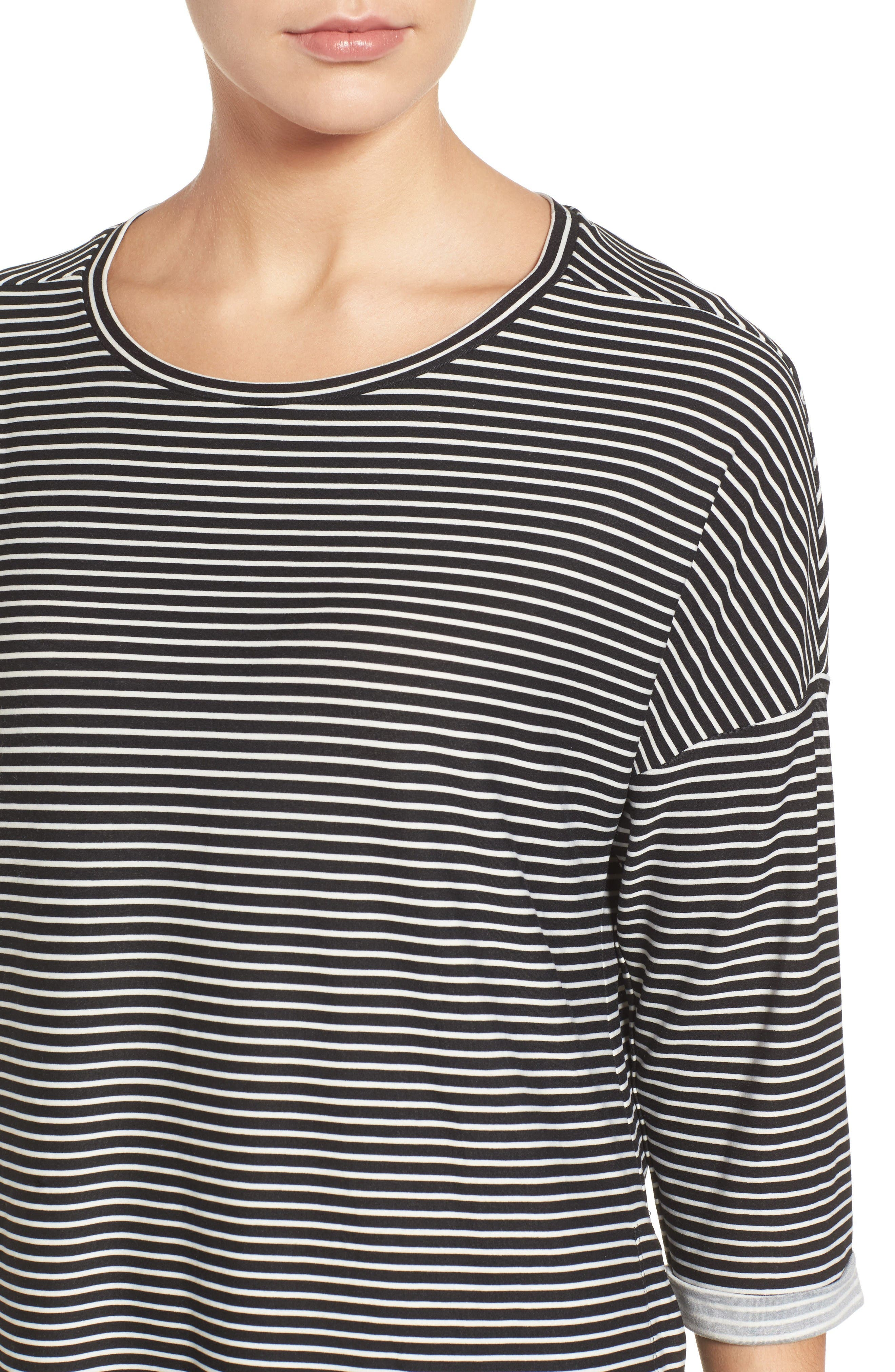 Alternate Image 4  - Gibson Stripe A-Line Tee