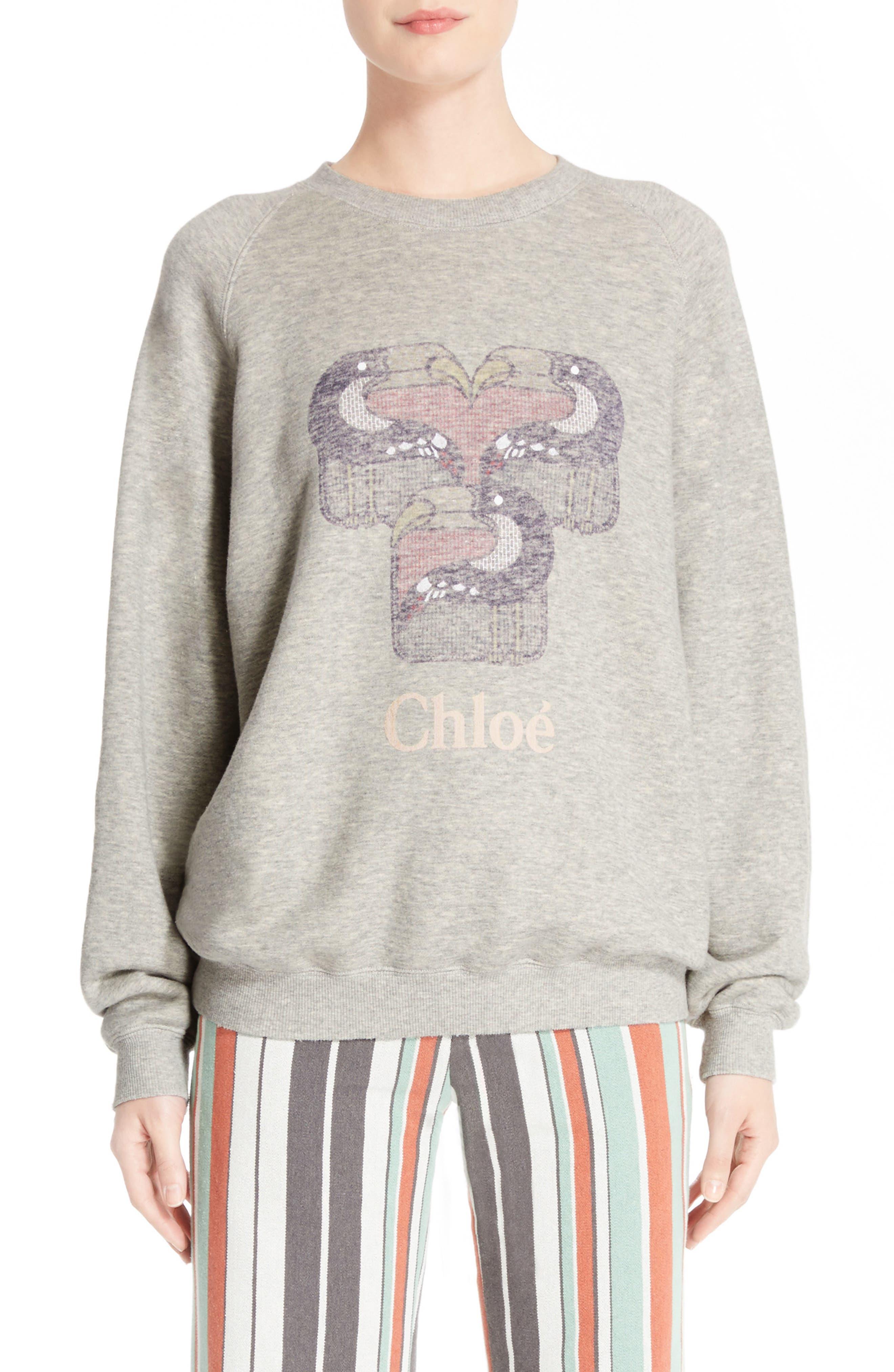 Chloé Pelican Print Sweatshirt