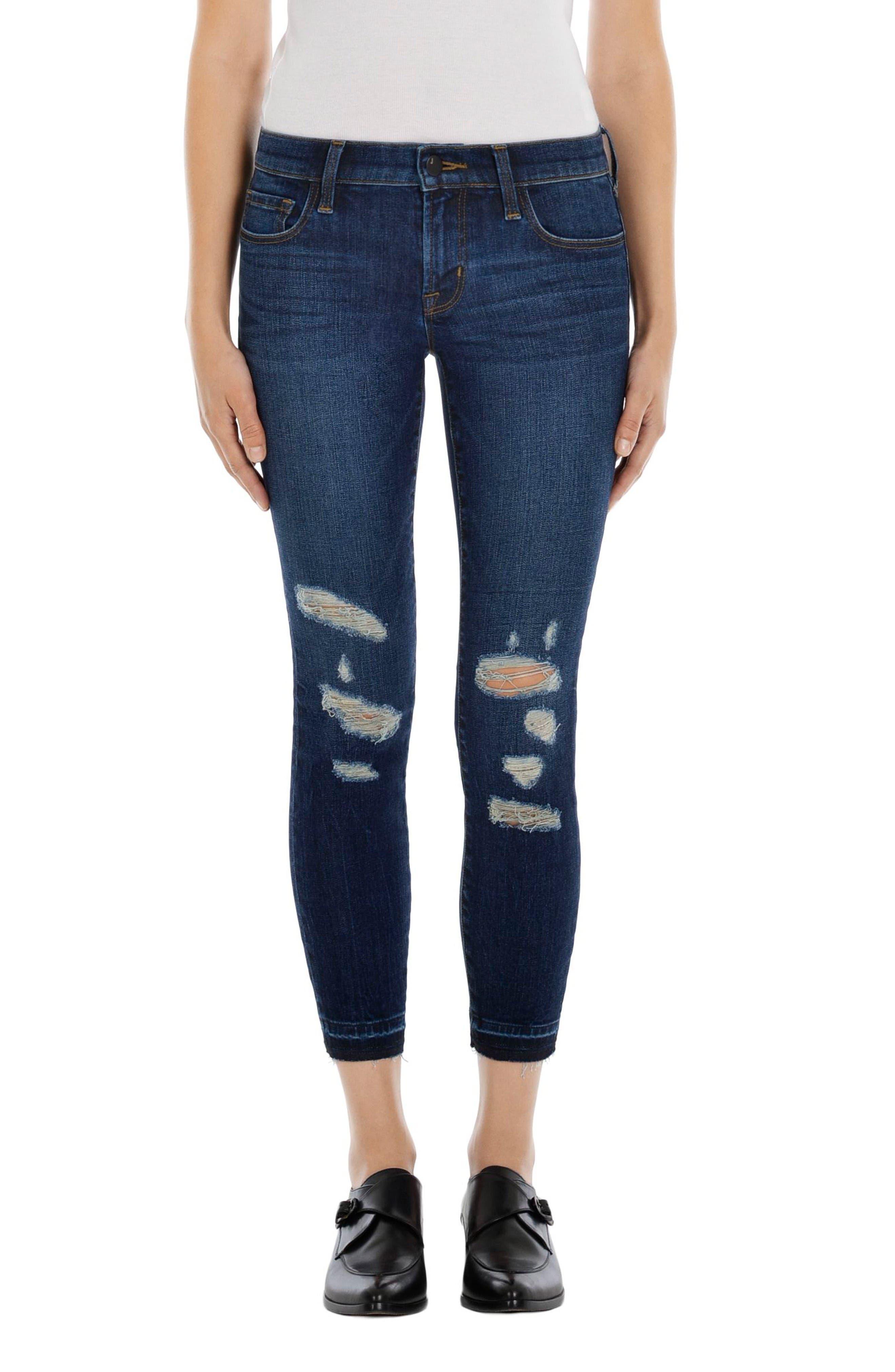 J Brand Released Hem Crop Skinny Jeans (Mesmeric Demented)