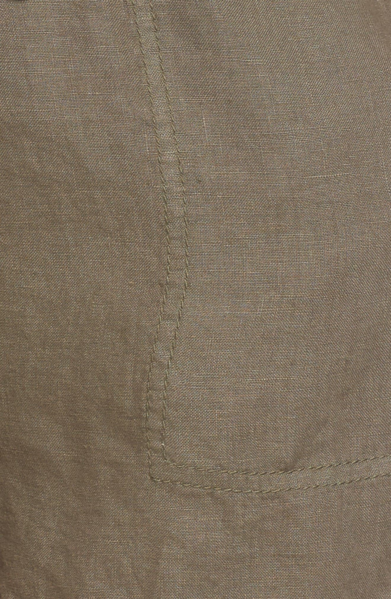Alternate Image 5  - Caslon® Drawstring Linen Shorts (Regular & Petite)