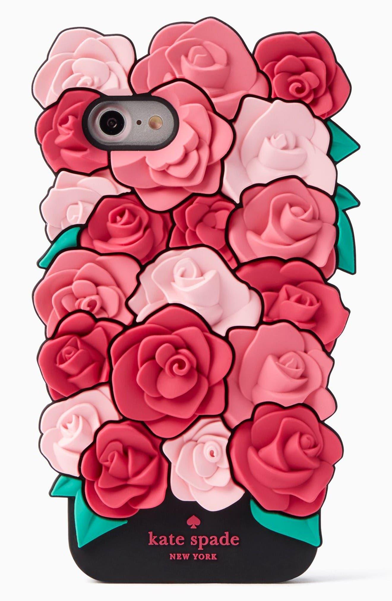 Main Image - kate spade new york roses iPhone 7 case