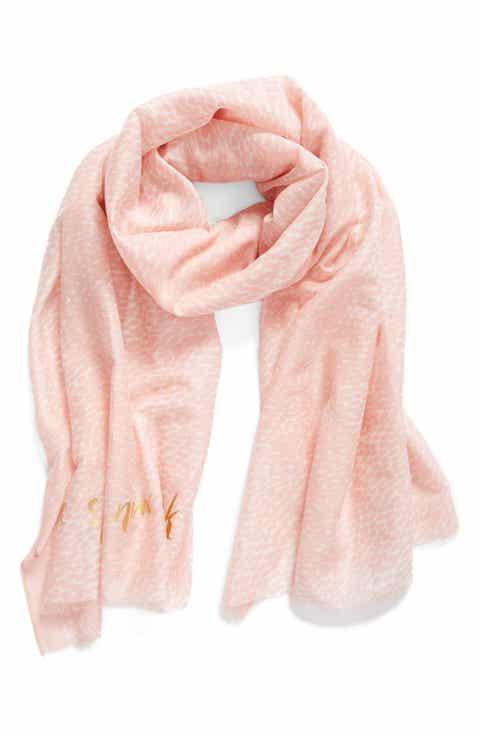 kate spade new york dappled cotton   silk scarf