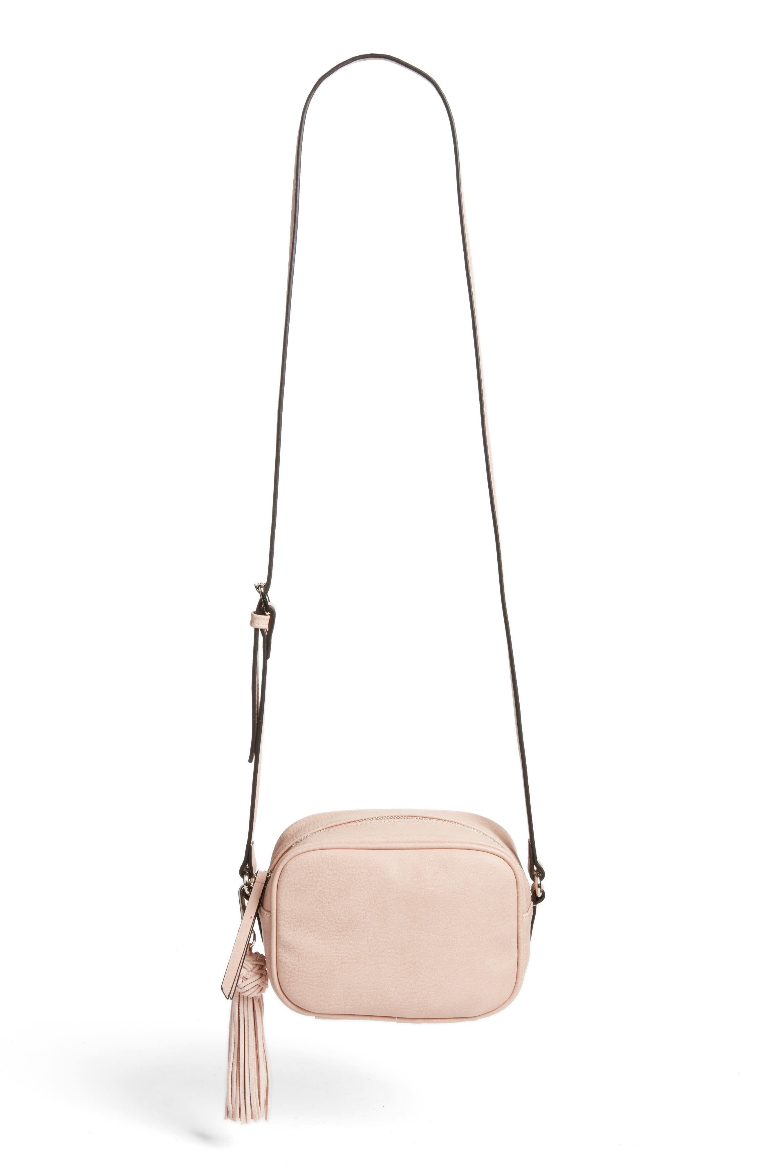 Phase 3 Tassel Faux Leather Crossbody