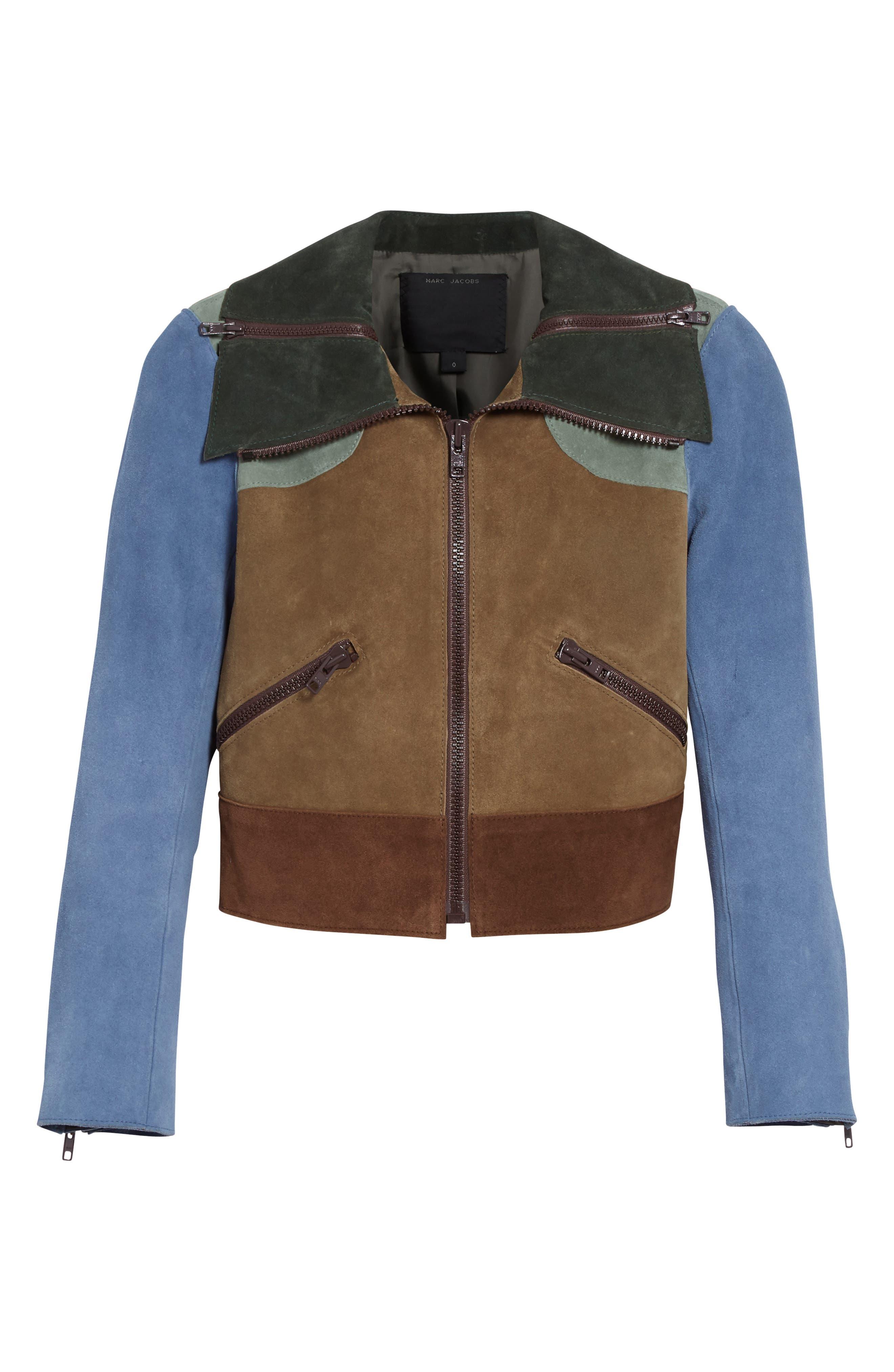 Alternate Image 4  - MARC JACOBS Suede Patchwork Jacket