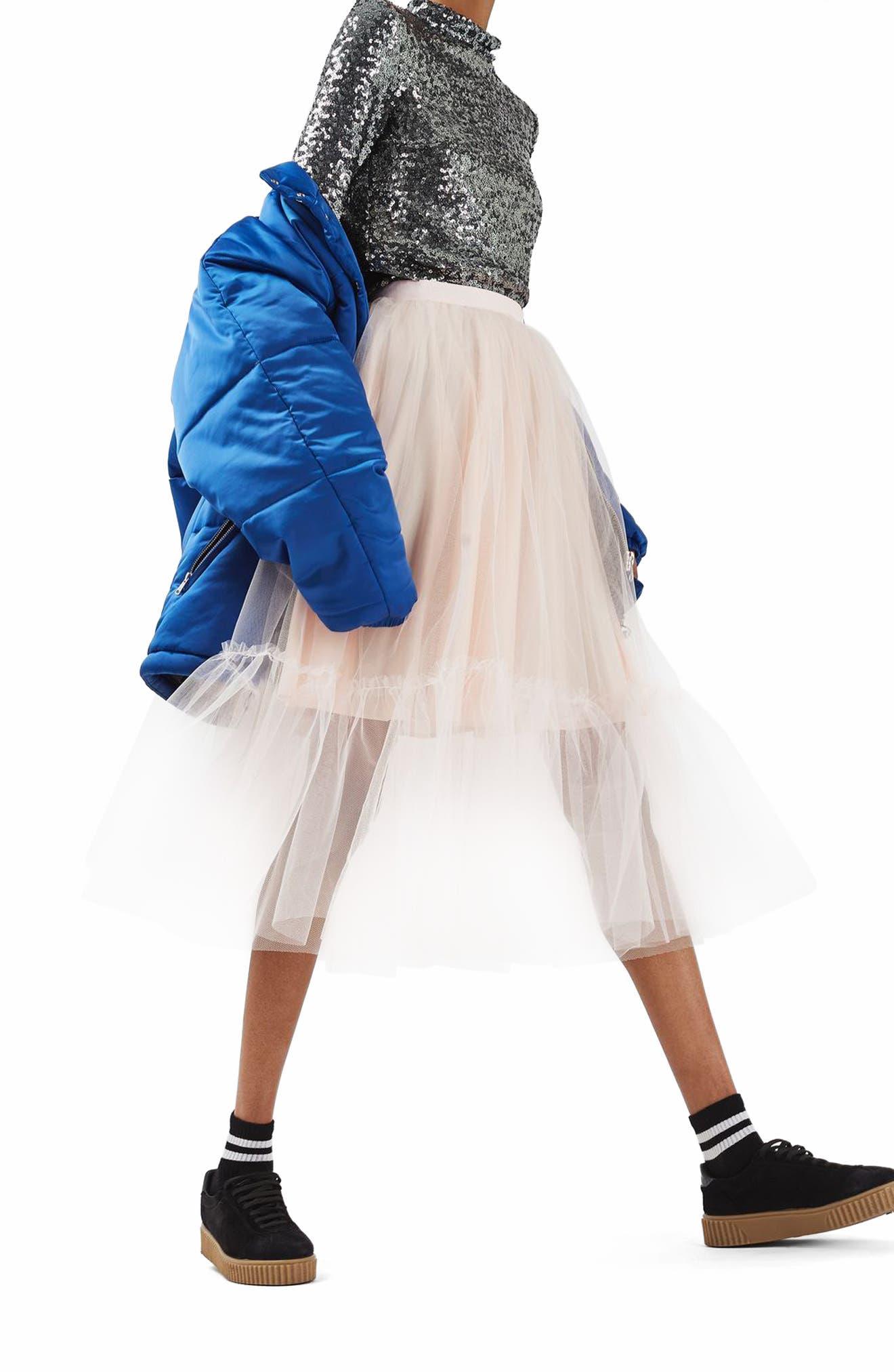 Alternate Image 4  - Topshop Tutu Tulle Skirt