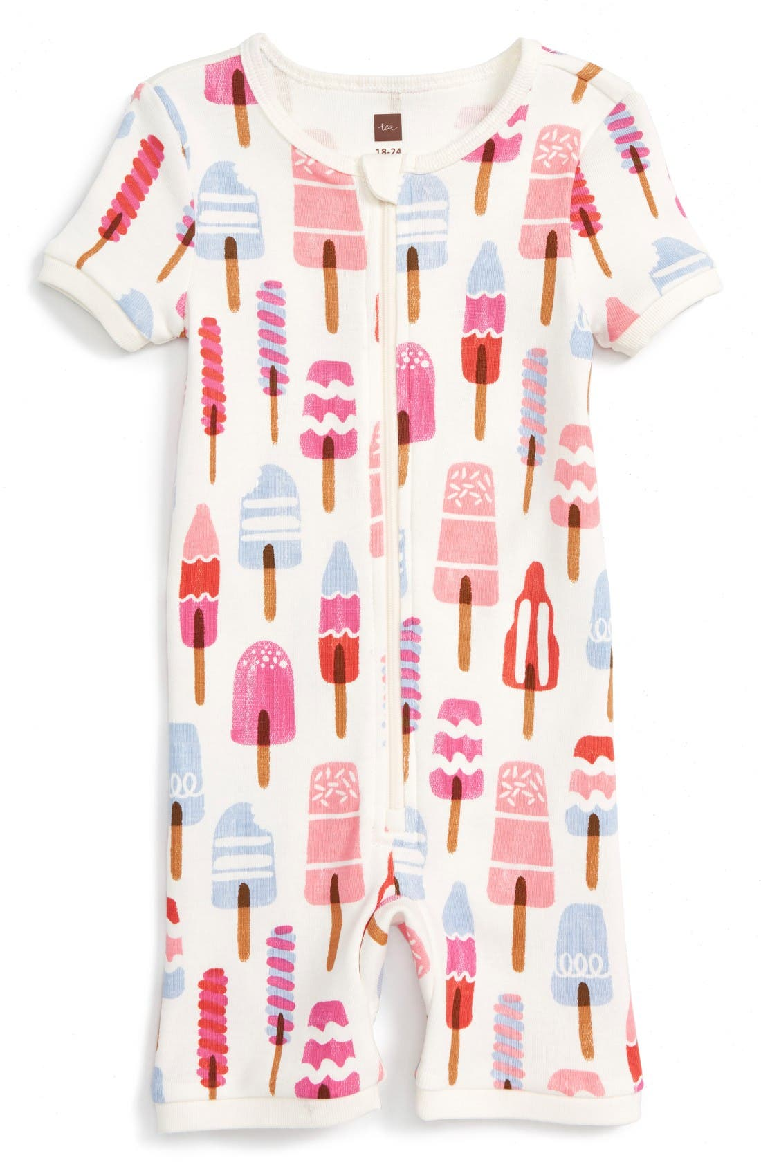 Alternate Image 1 Selected - Tea Collection Icypole Fitted One-Piece Pajamas (Baby Girls)
