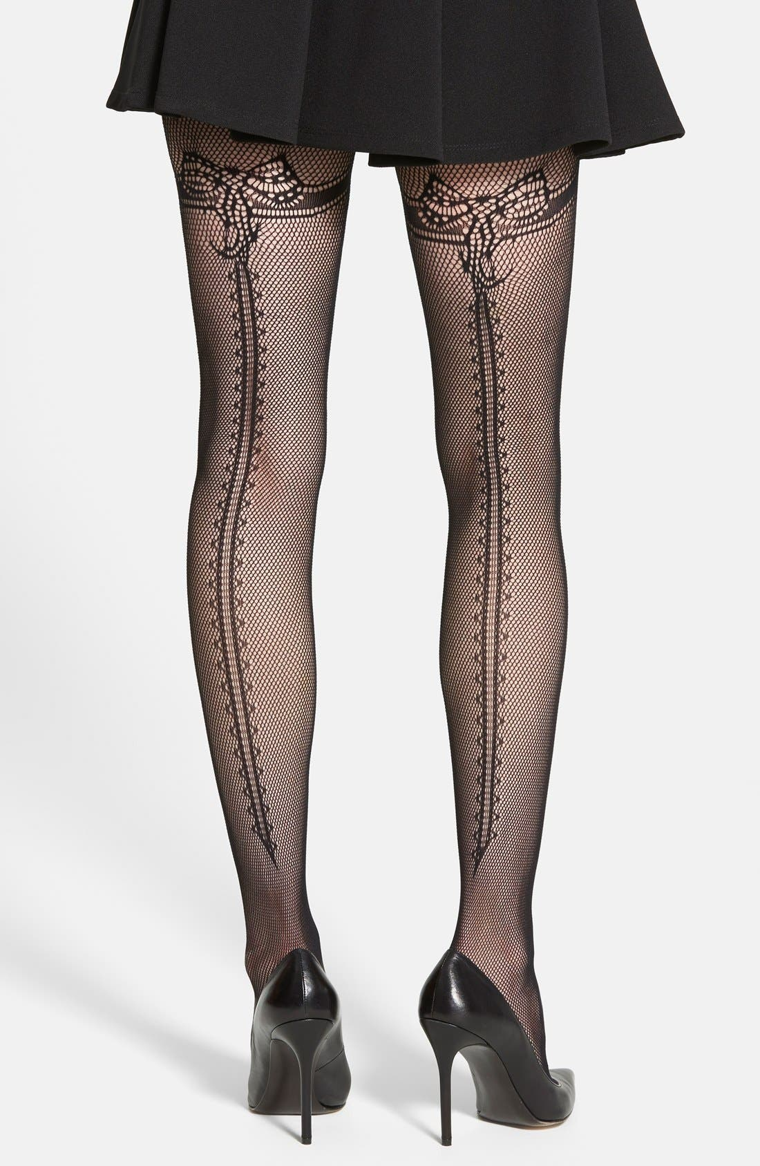 Main Image - Erica M. 'Genevive' Fishnet Tights