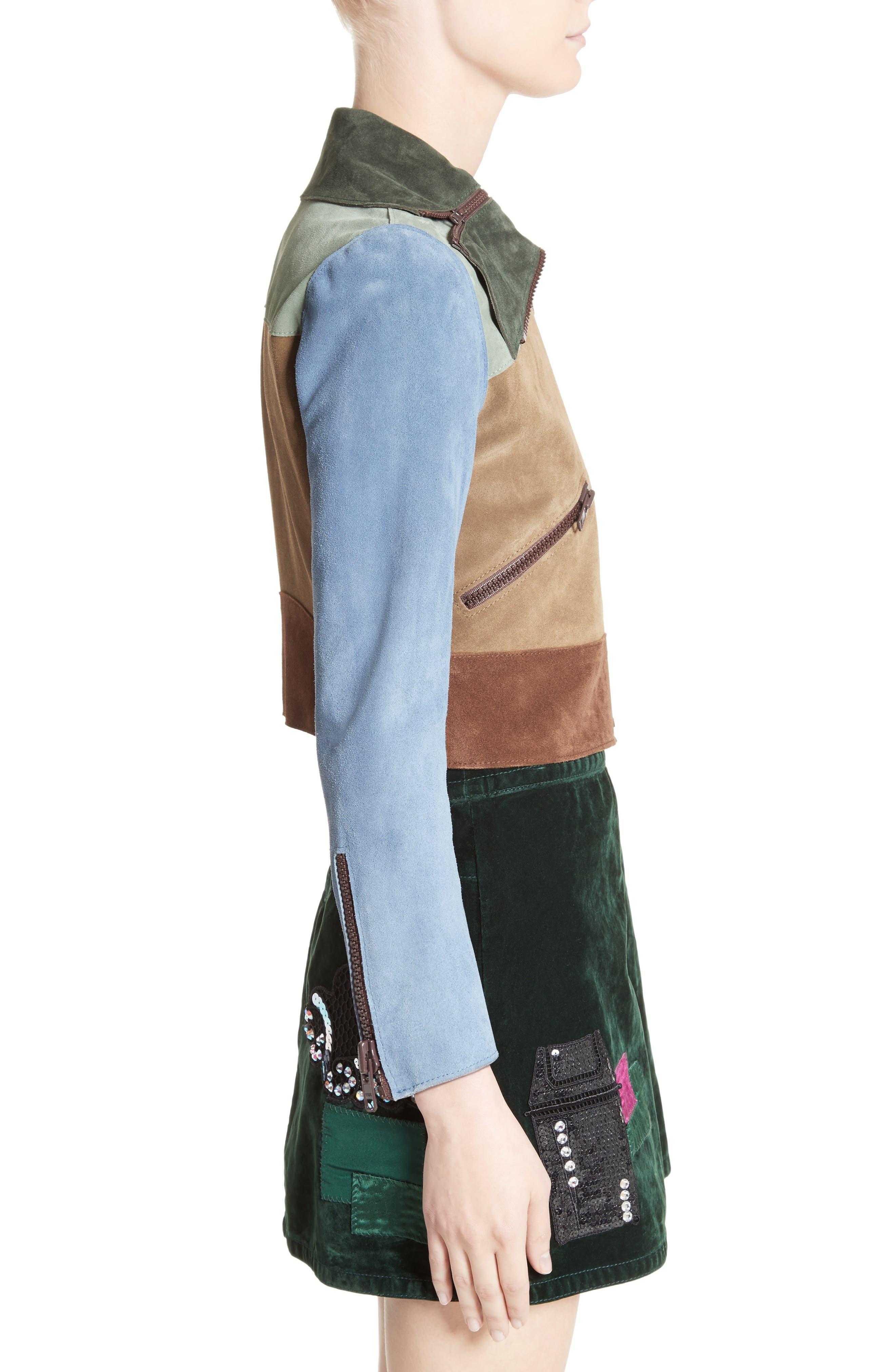 Alternate Image 5  - MARC JACOBS Suede Patchwork Jacket