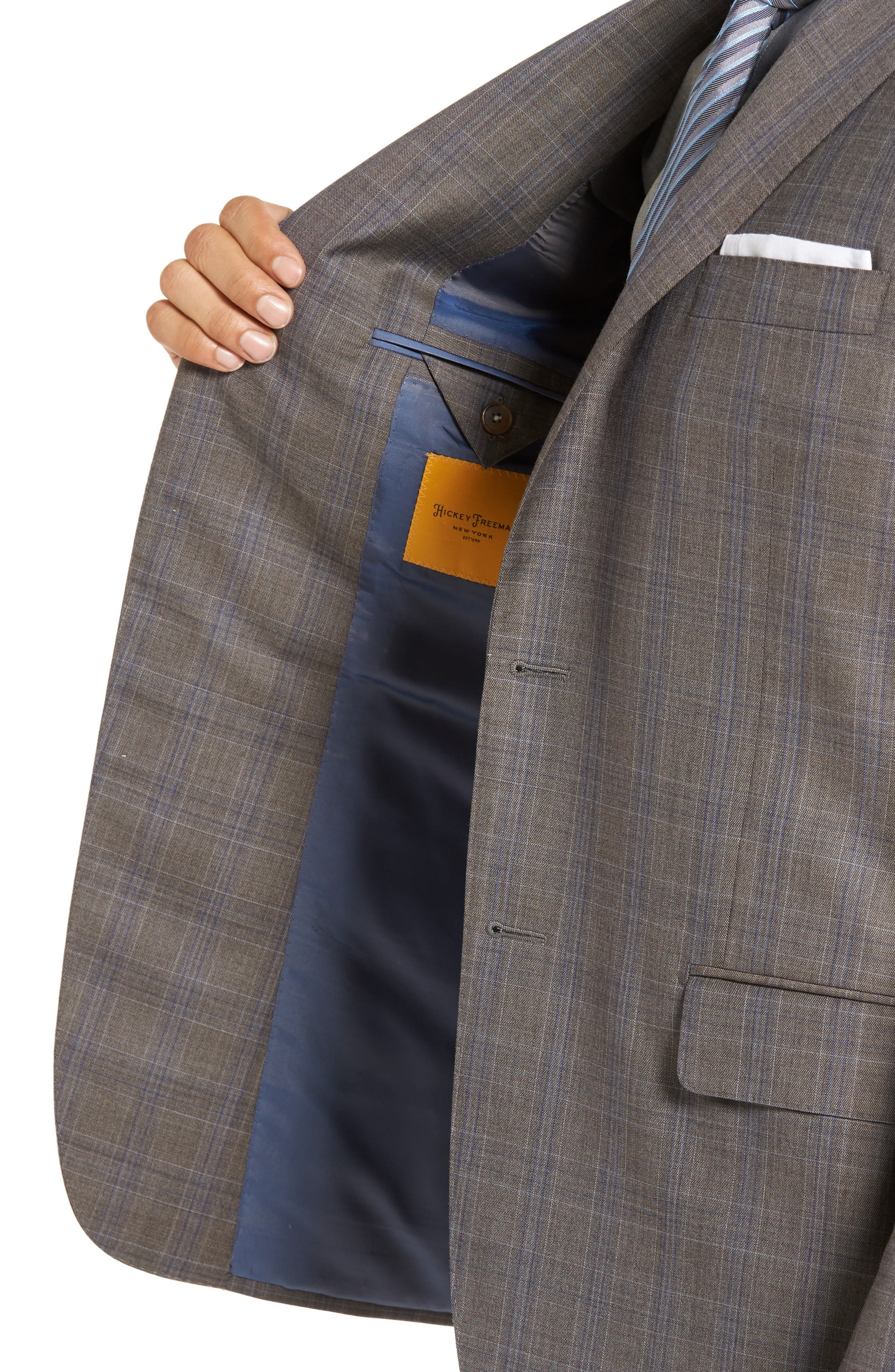 Alternate Image 3  - Hickey Freeman Beacon Classic Fit Plaid Wool Suit