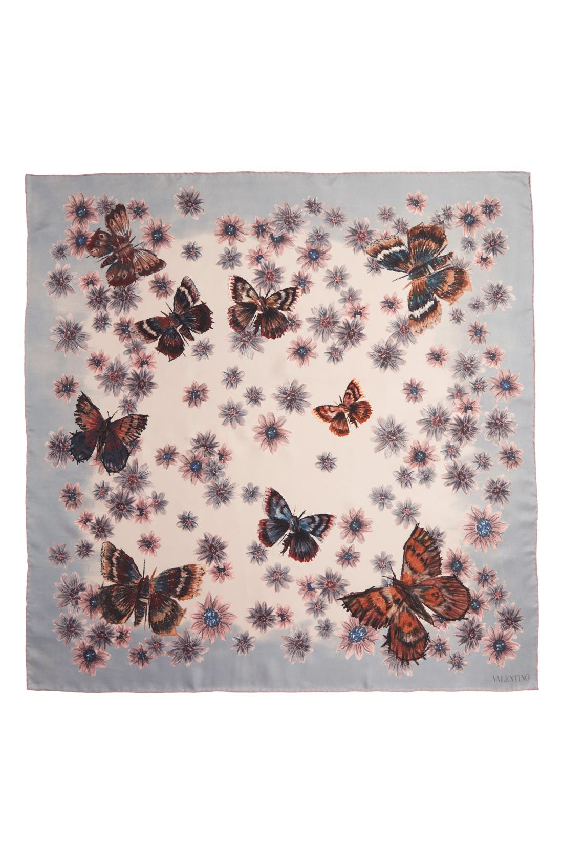 Main Image - Valentino Mariposa Garden Silk Scarf
