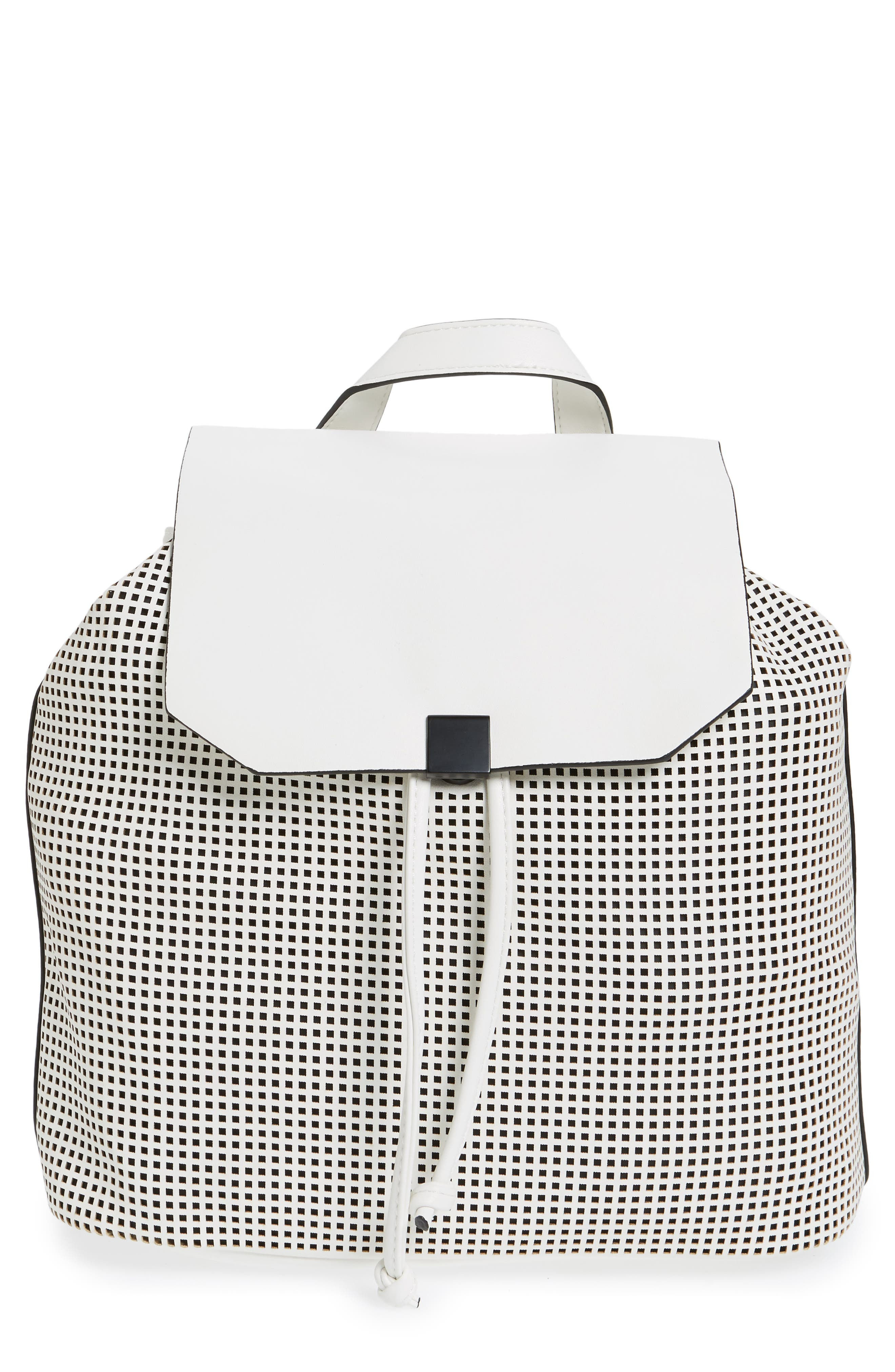 Main Image - Phase 3 Perforated Faux Leather Backpack