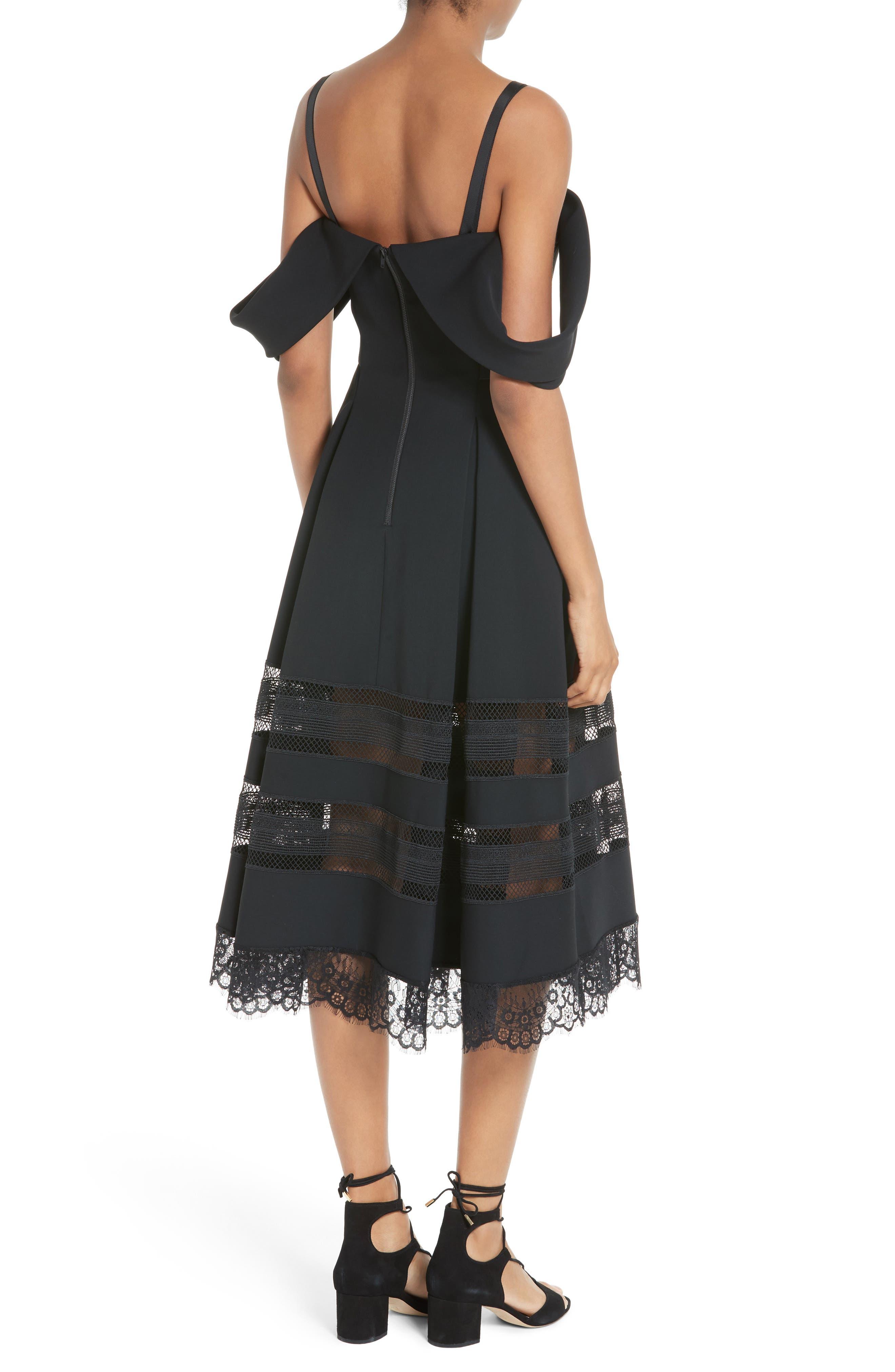 Alternate Image 2  - Self-Portrait Cold Shoulder Midi Dress
