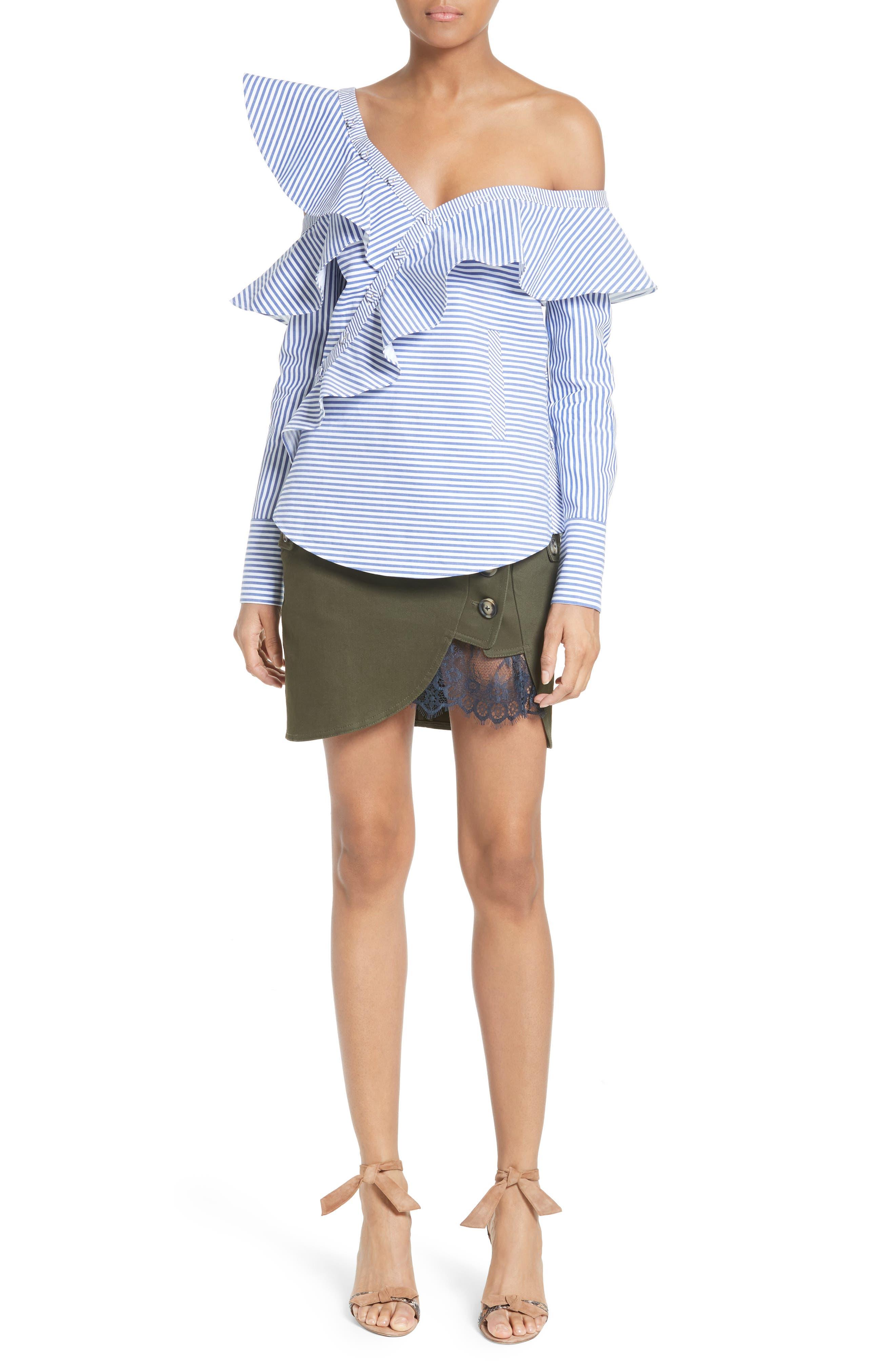Alternate Image 5  - Self-Portrait Utility Miniskirt
