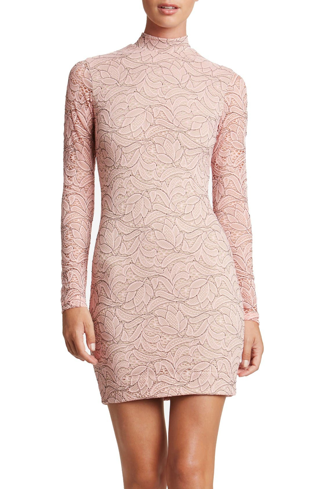 Alternate Image 1 Selected - Dress the Population Penelope Lace Body-Con Dress