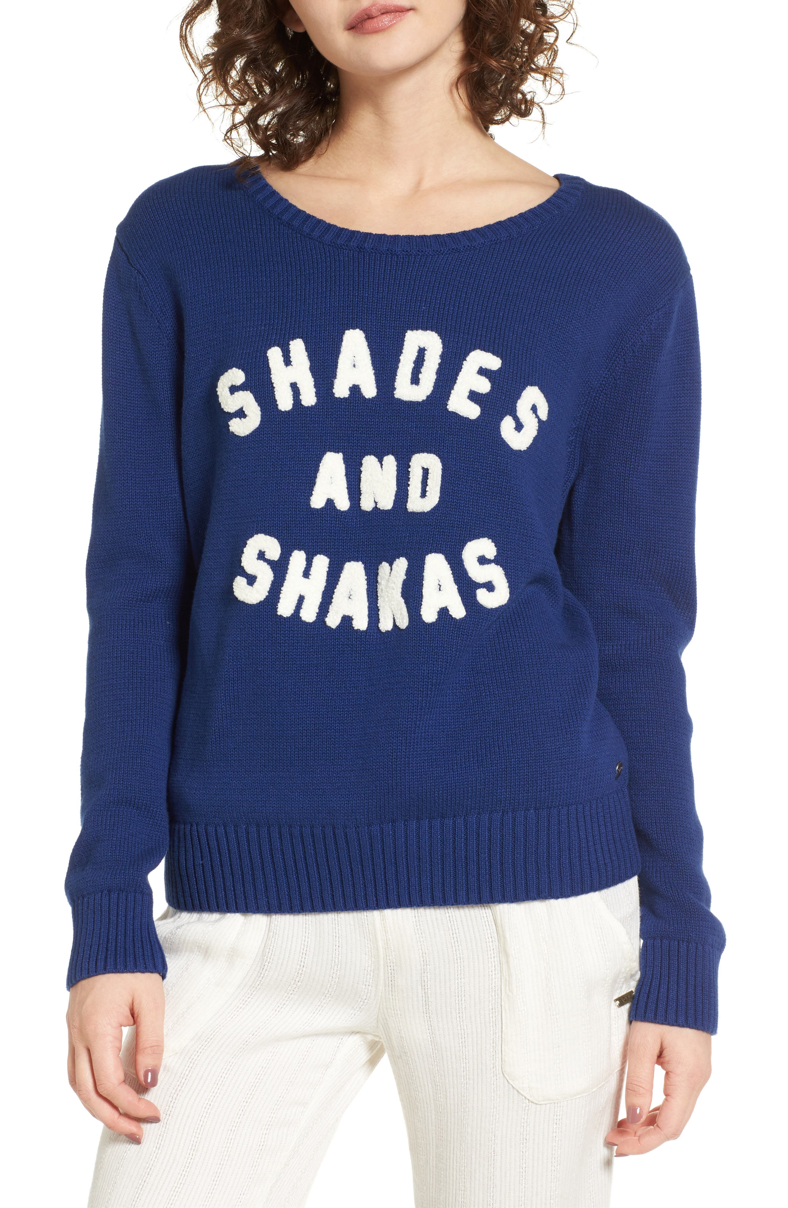 Alternate Image 1 Selected - Roxy Higher Ground Graphic Sweater