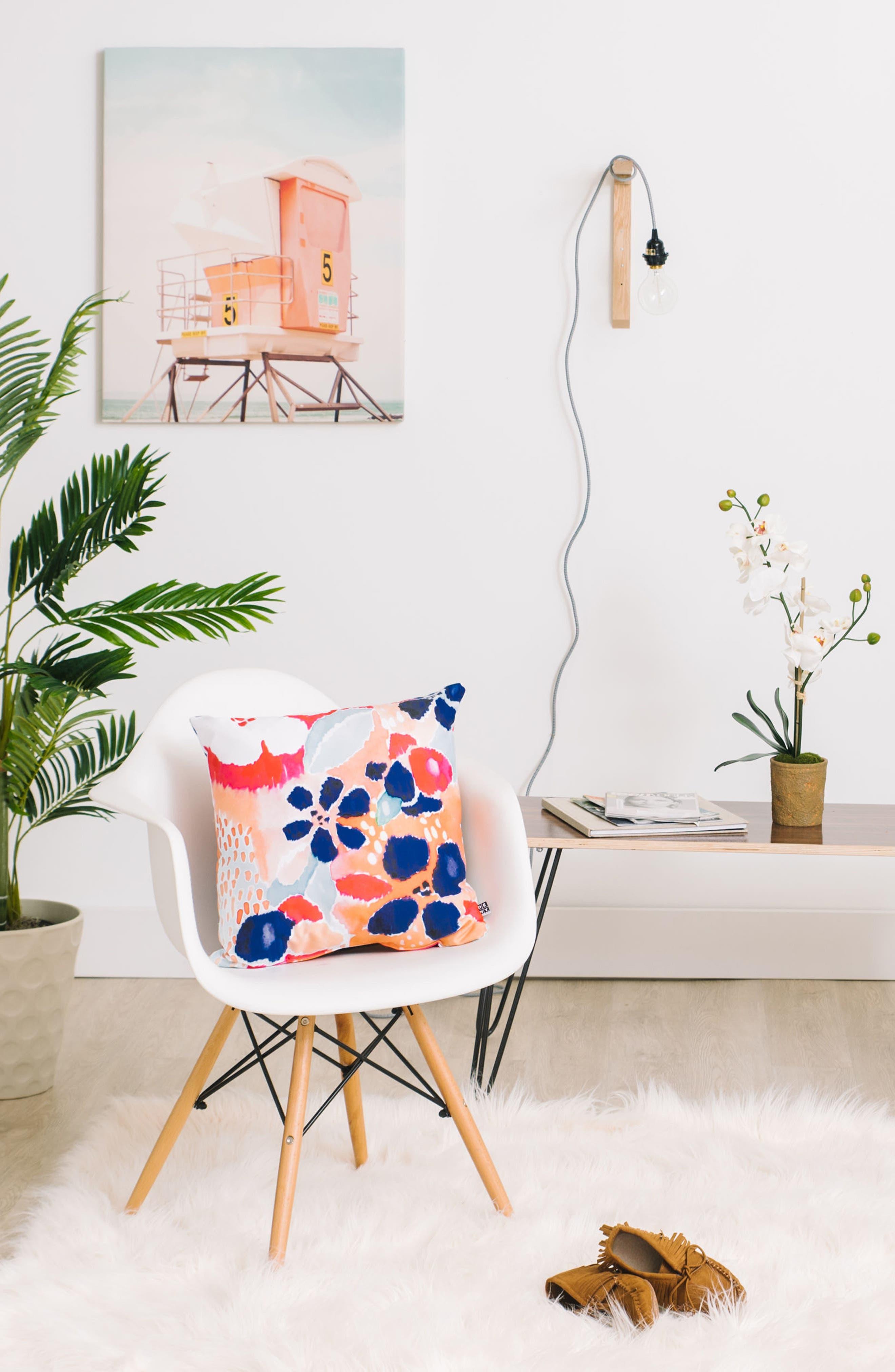 Alternate Image 2  - DENY Designs Floral Pillow