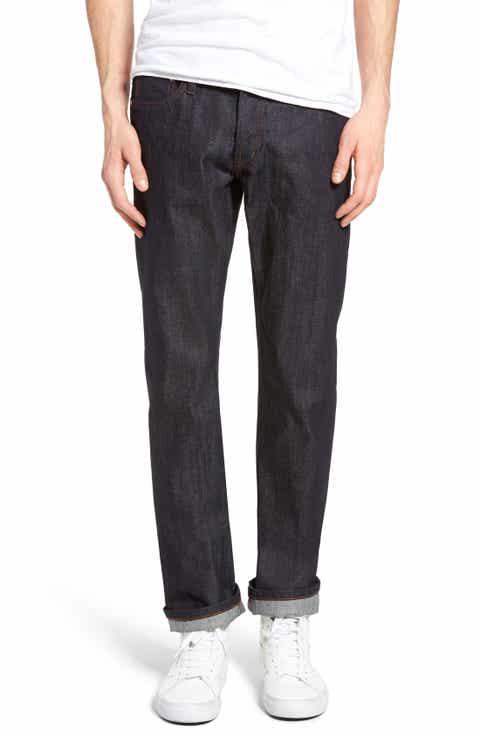 The Unbranded Brand UB301 Straight Leg Raw Selvedge Jeans (Indigo)