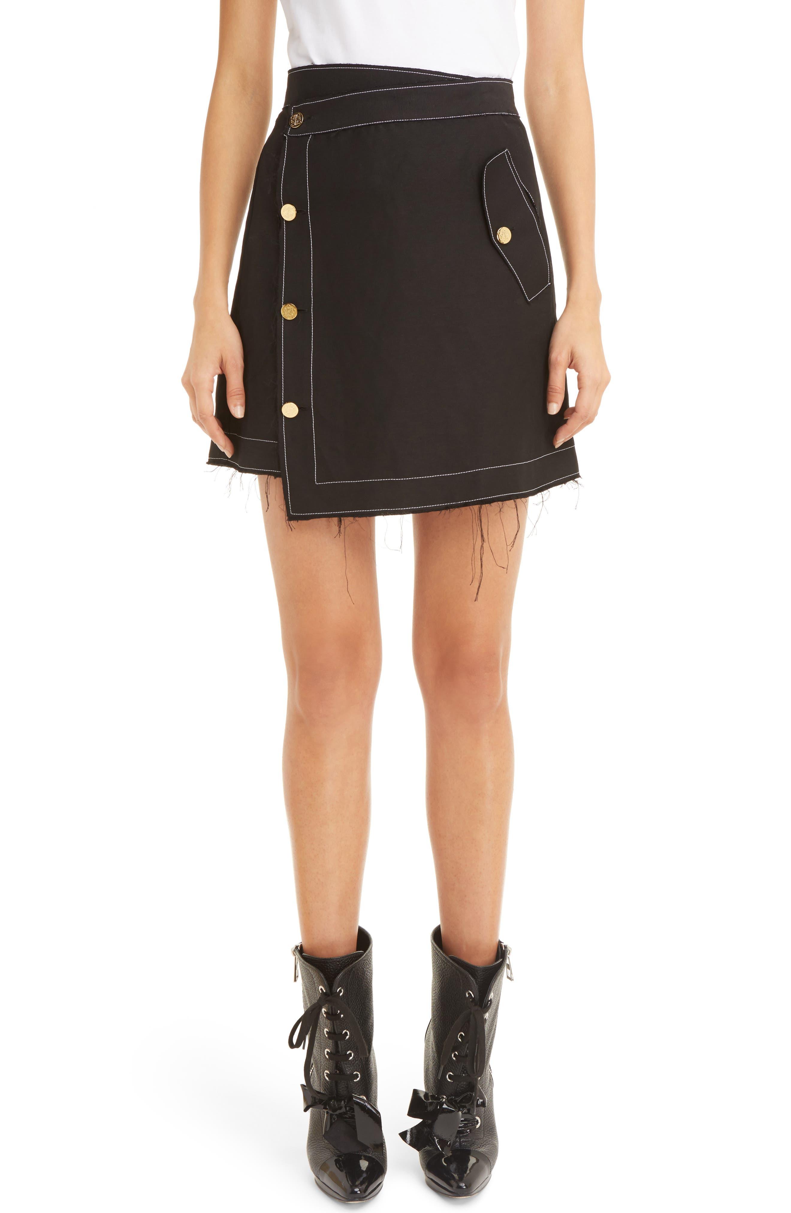 LOEWE Linen Wrap Miniskirt