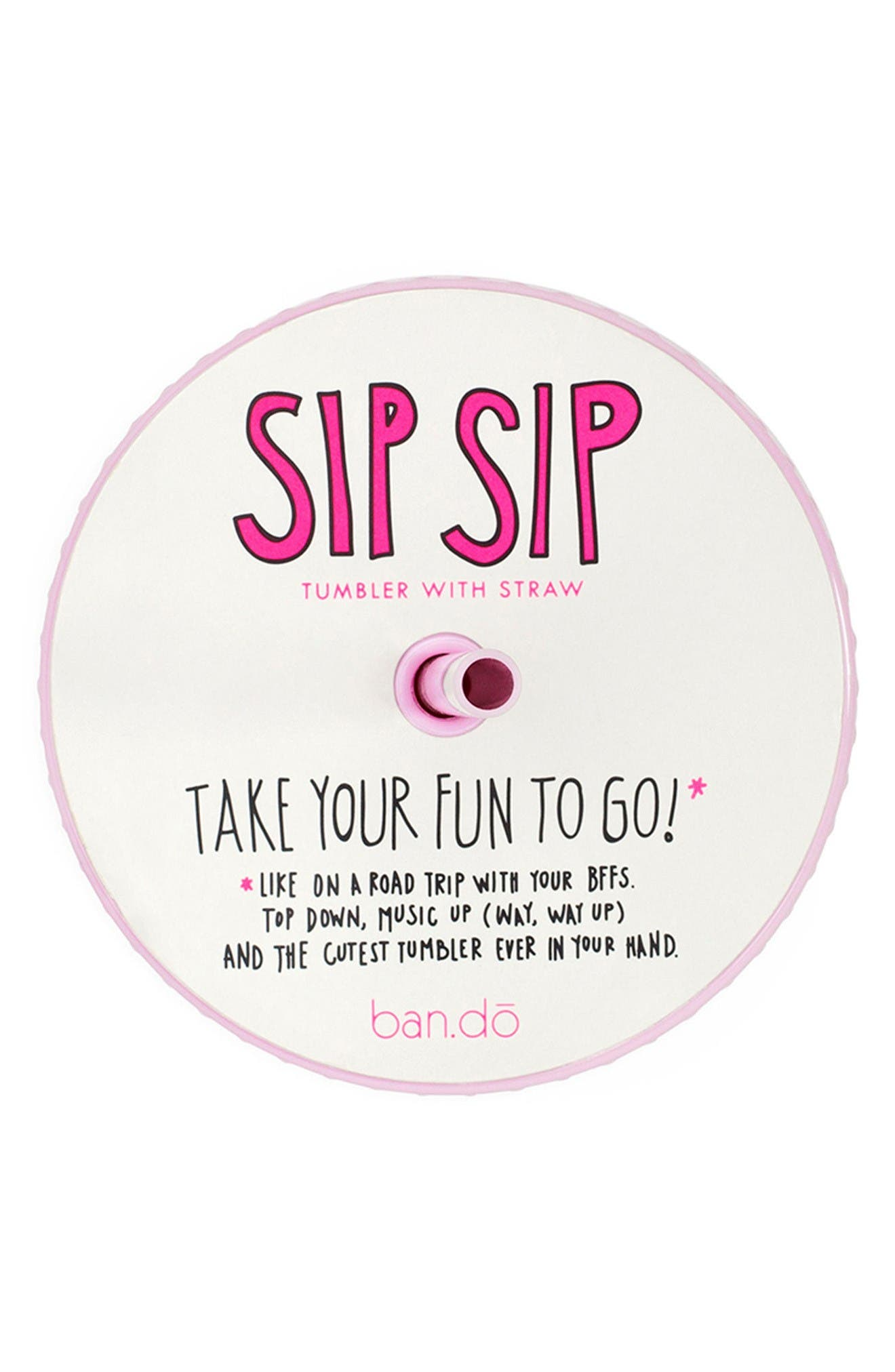 Alternate Image 2  - ban.do Lady of Leisure - Sip Sip Tumbler & Straw