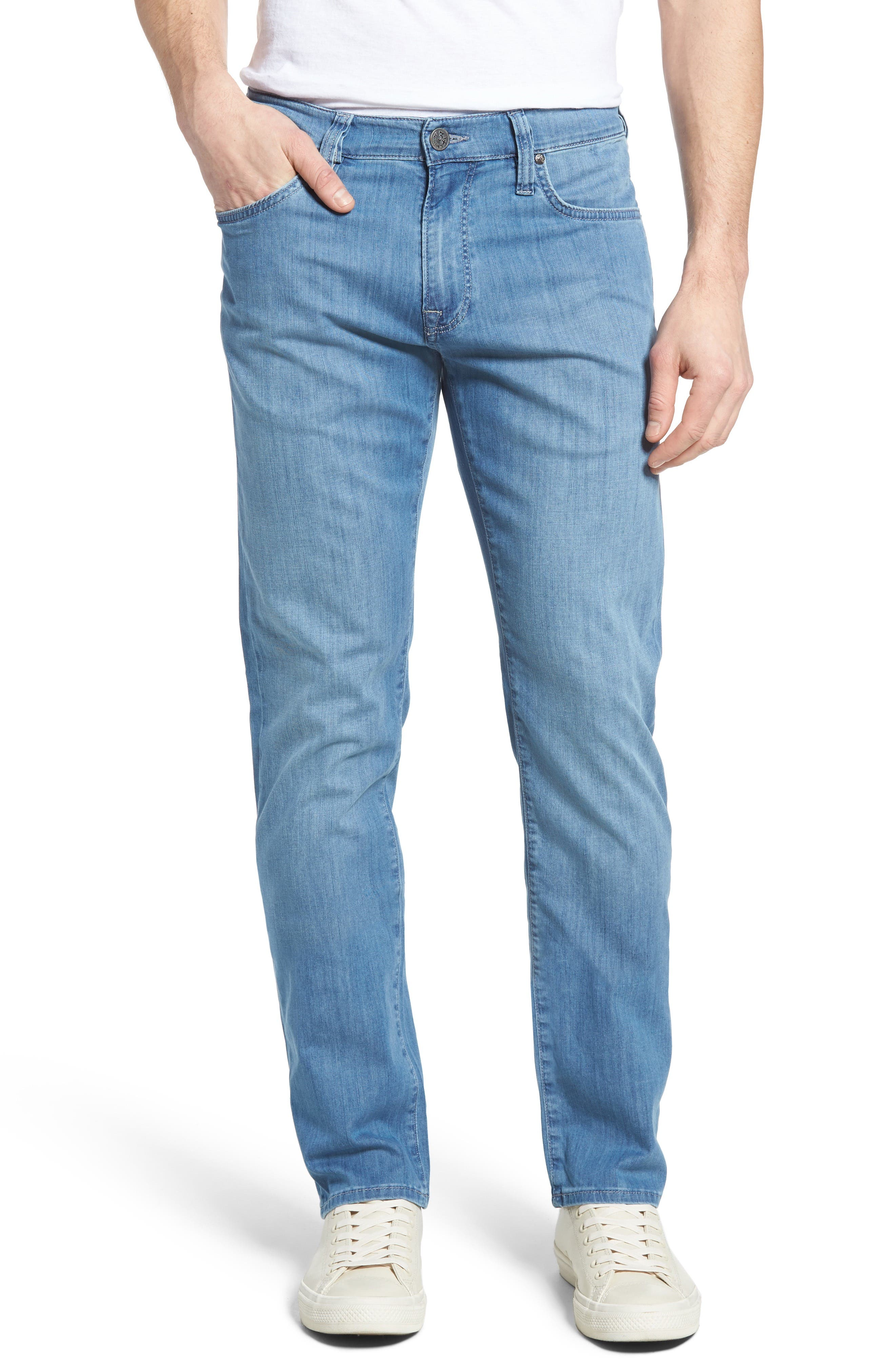 34 Heritage Courage Straight Leg Jeans (Sky Summer)
