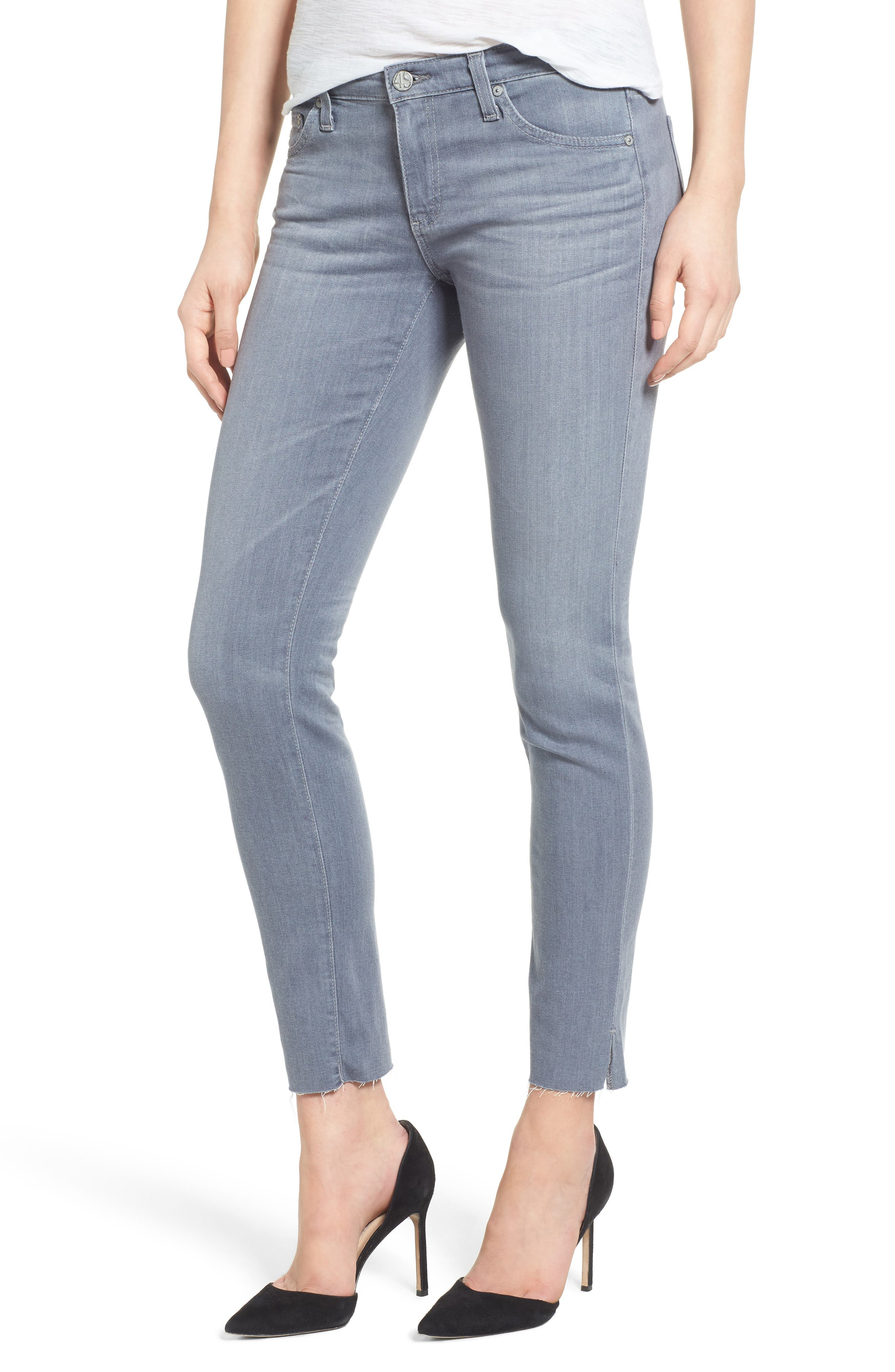 Alternate Image 1 Selected - AG The Legging Ankle Super Skinny Jeans (10 Year Wind Chill)