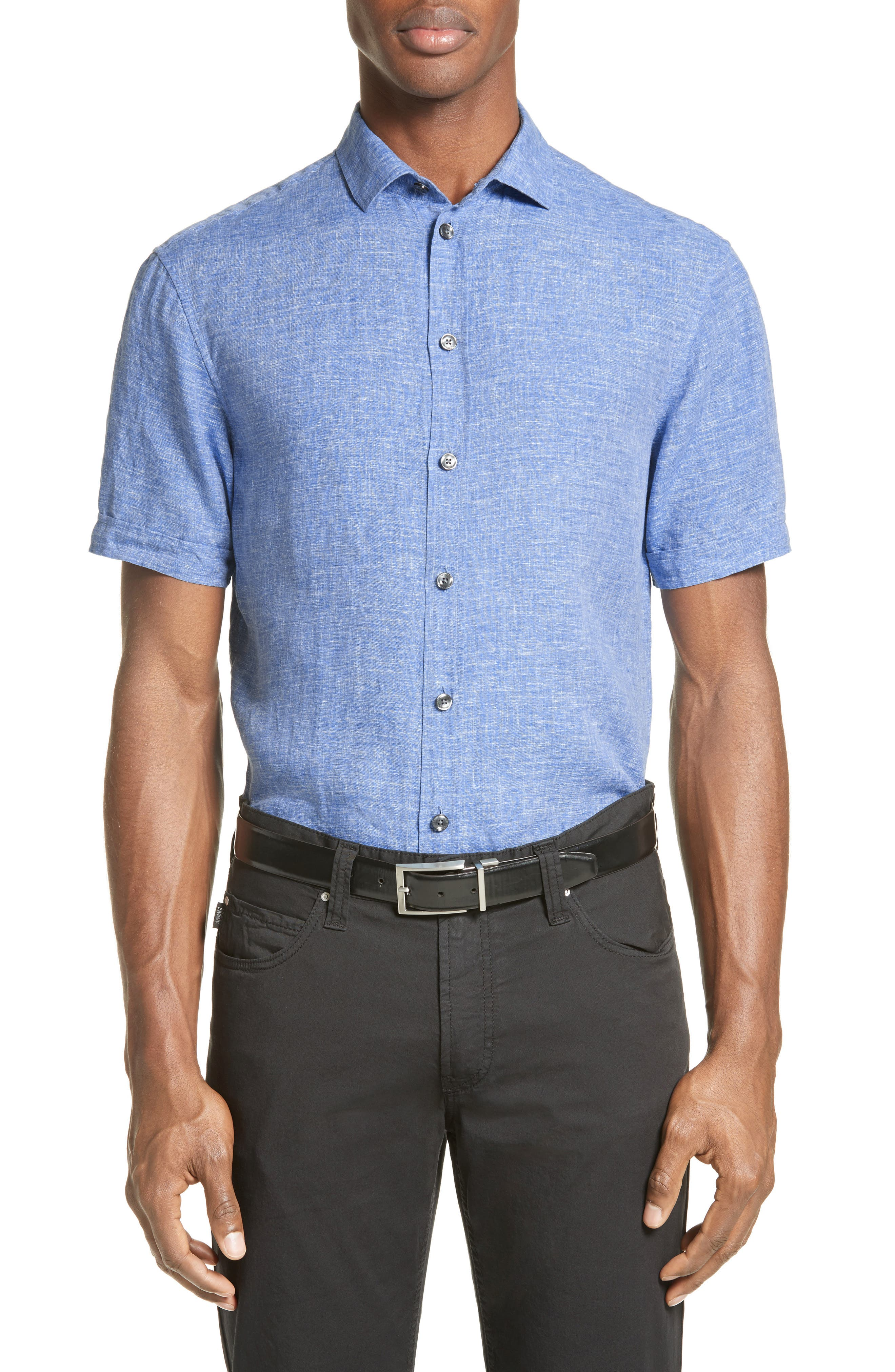 ARMANI COLLEZIONI Chambray Sport Shirt