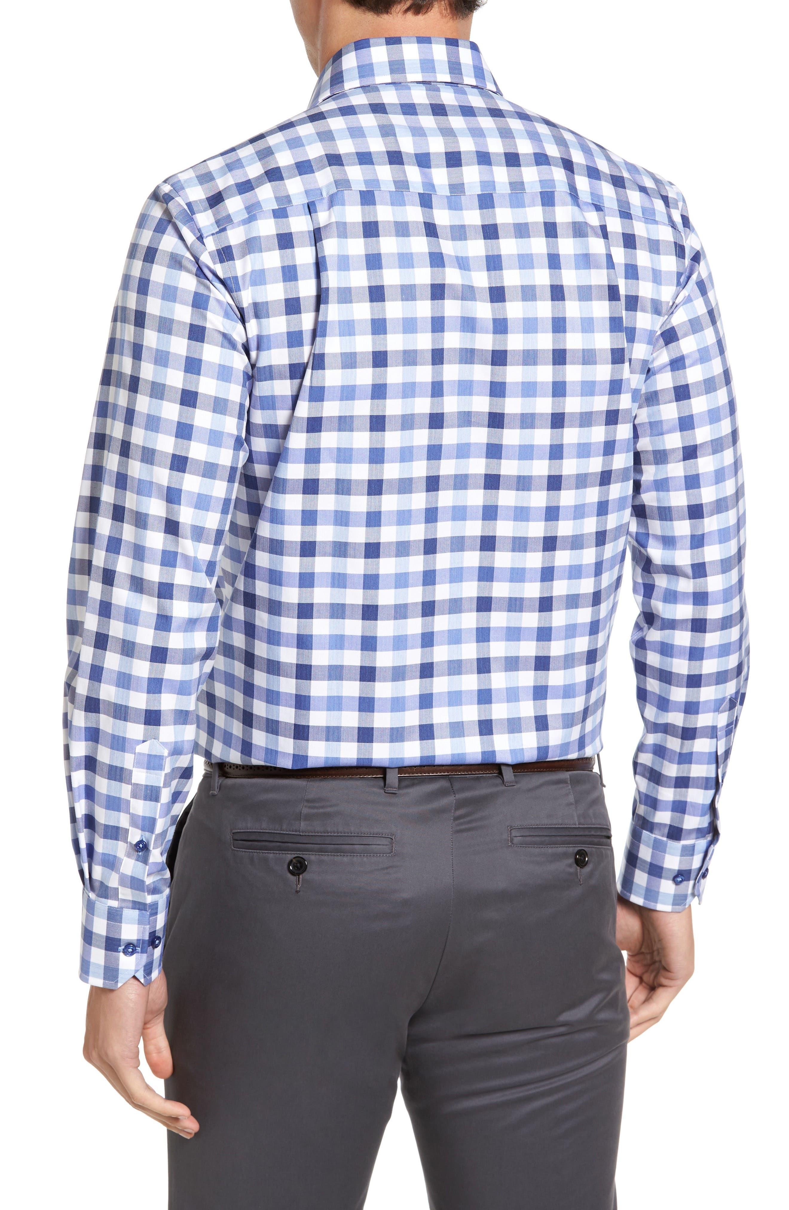 Alternate Image 2  - David Donahue Regular Fit Check Sport Shirt