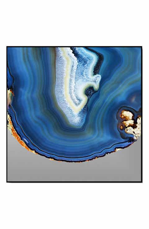 crystal art gallery blue agate print wall art - Home Decor For Sale