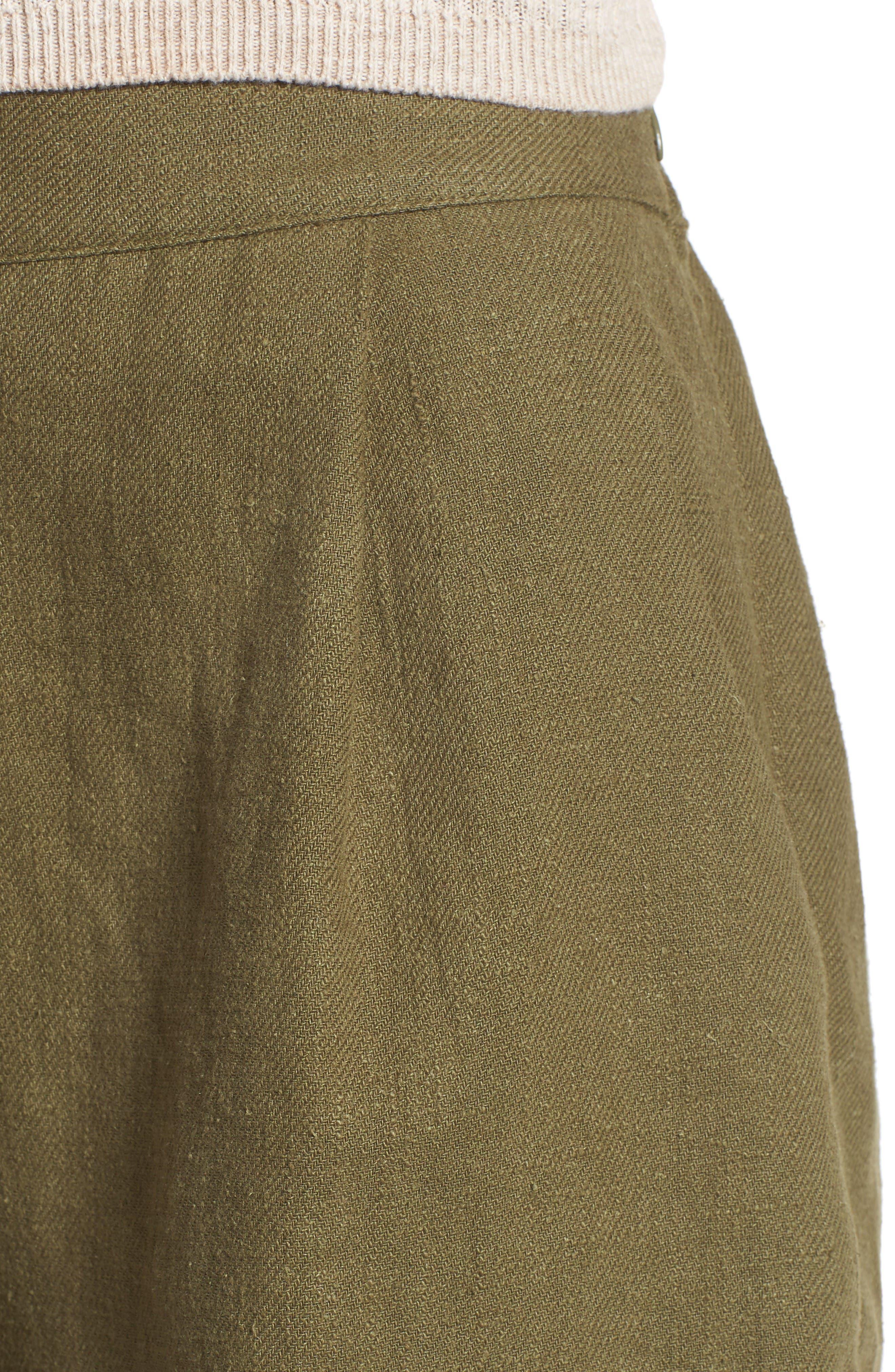 Alternate Image 5  - MOON RIVER High Waist Linen & Cotton Shorts