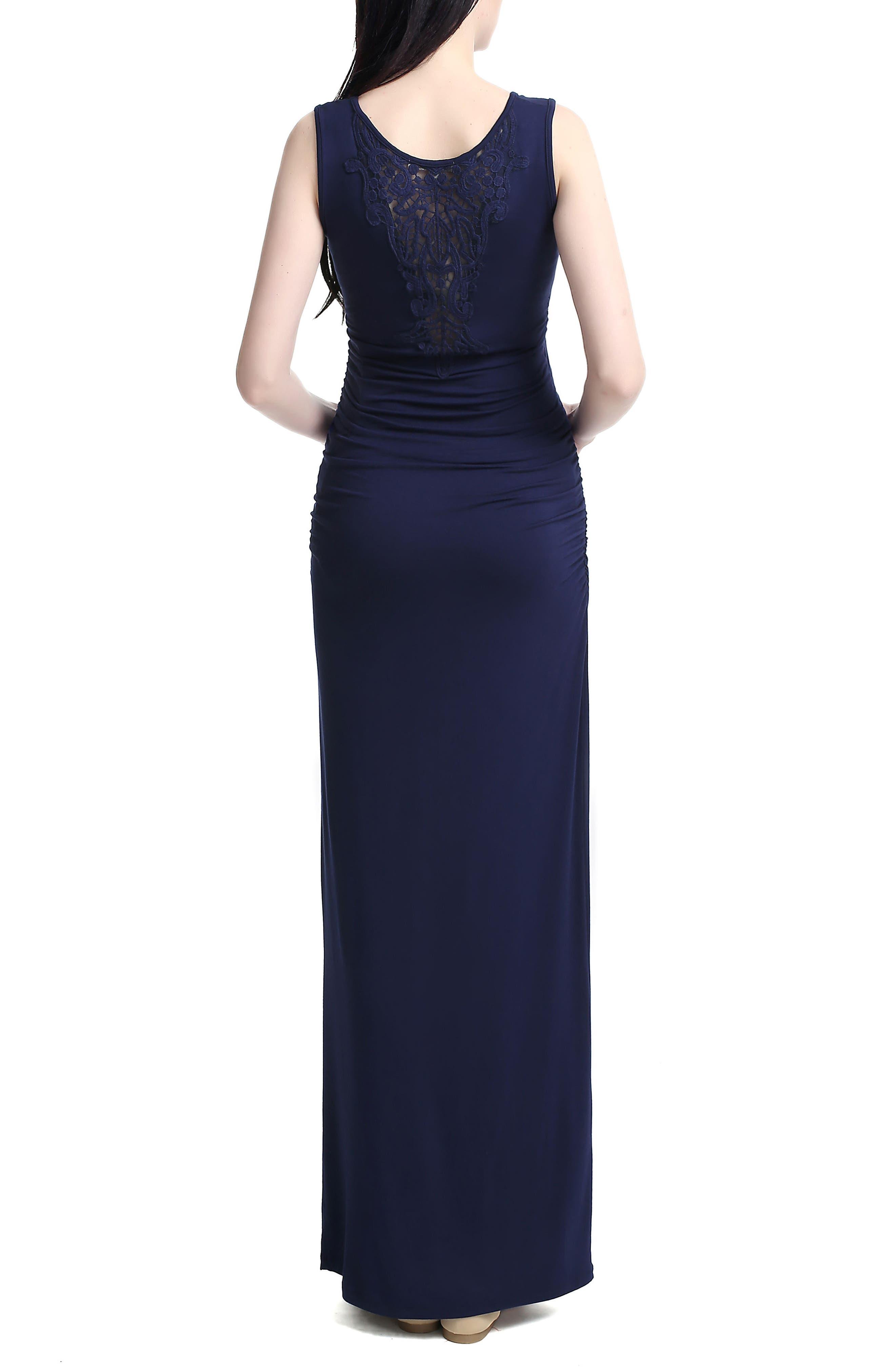 Alternate Image 2  - Kimi and Kai 'Jane' V-Neck Maternity Maxi Dress