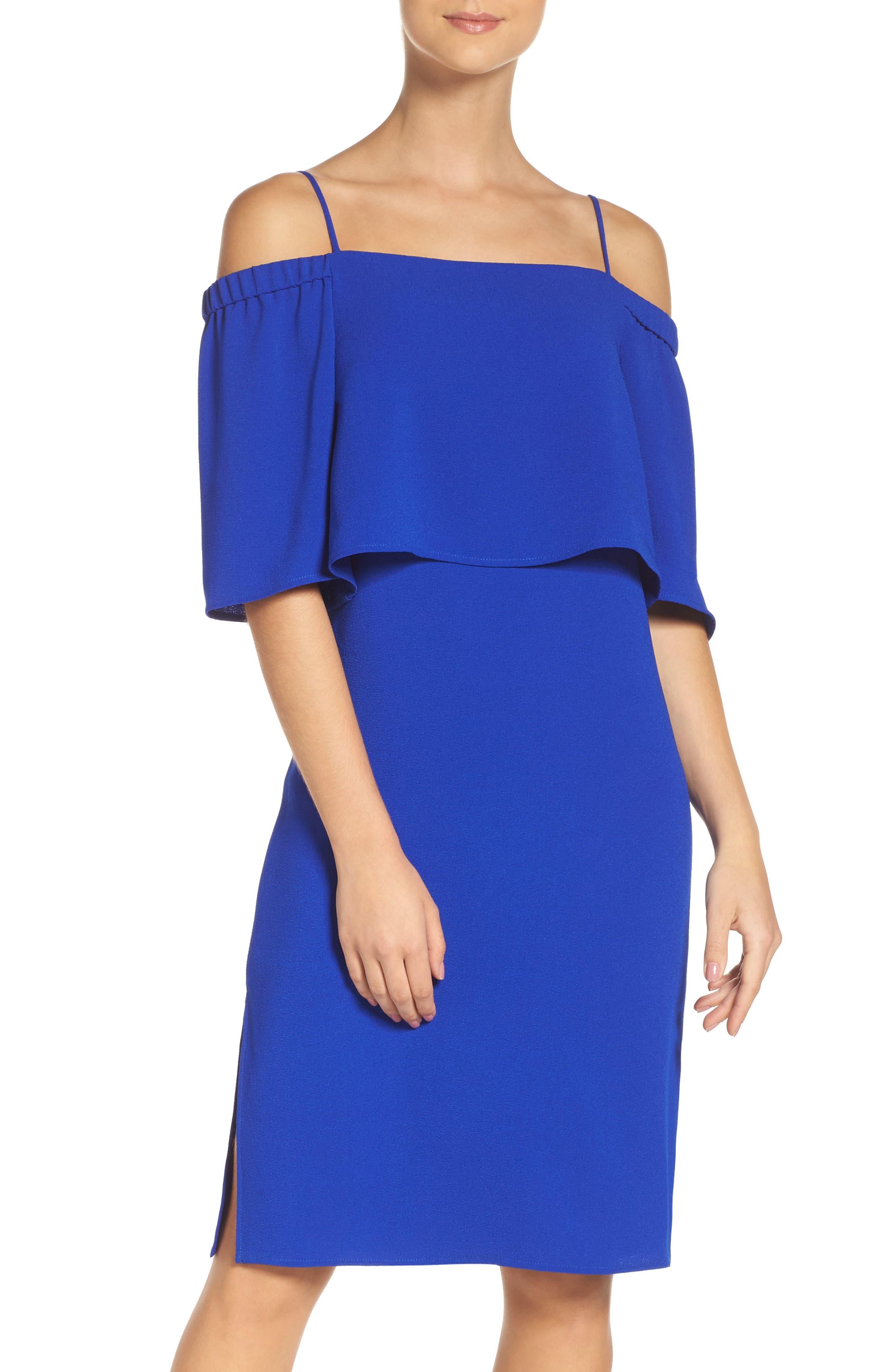Main Image - Charles Henry Popover Midi Dress