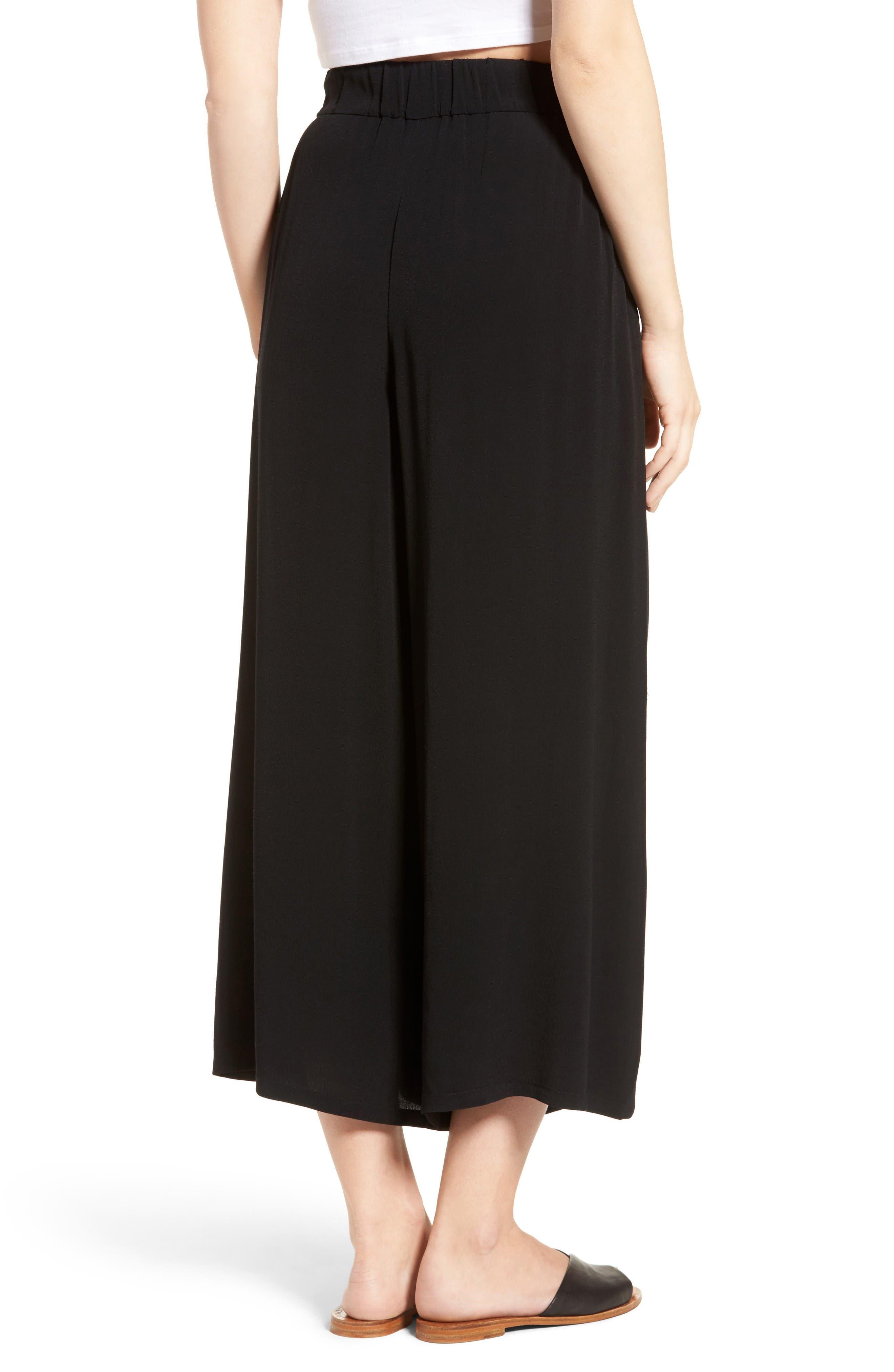 Alternate Image 2  - Leith High Waist Crop Wide Leg Pants